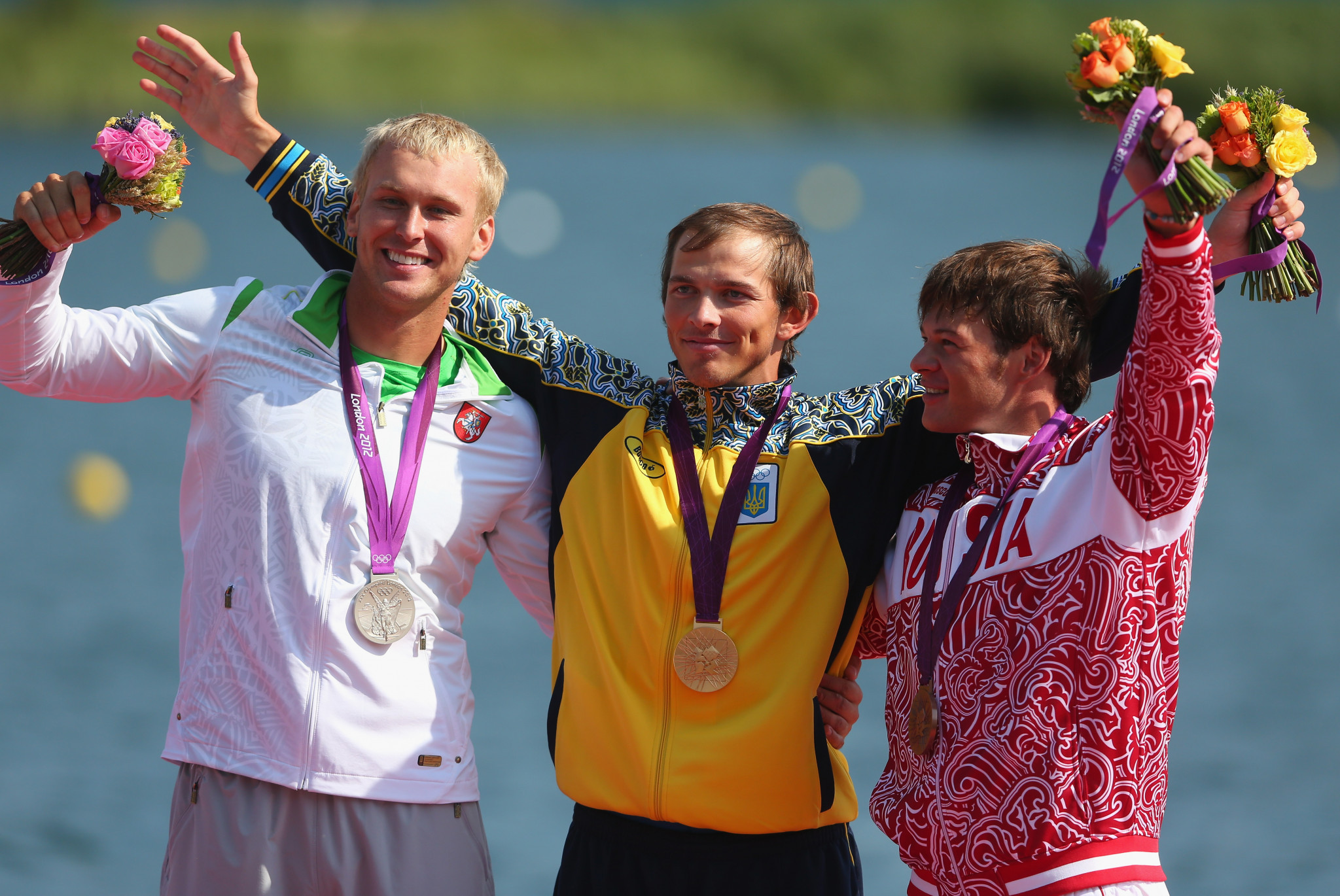 Jevgenij Shuklin claimed the C1 200 metres silver medal at London 2012 ©Getty Images