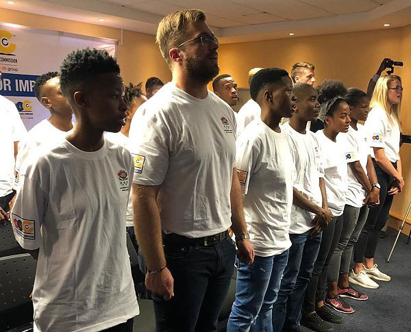 A group of student athletes were invited to the National Lotteries Commission in Pretoria as the University Sport South Africa announced its team for the Summer Universiade in Naples ©USSA
