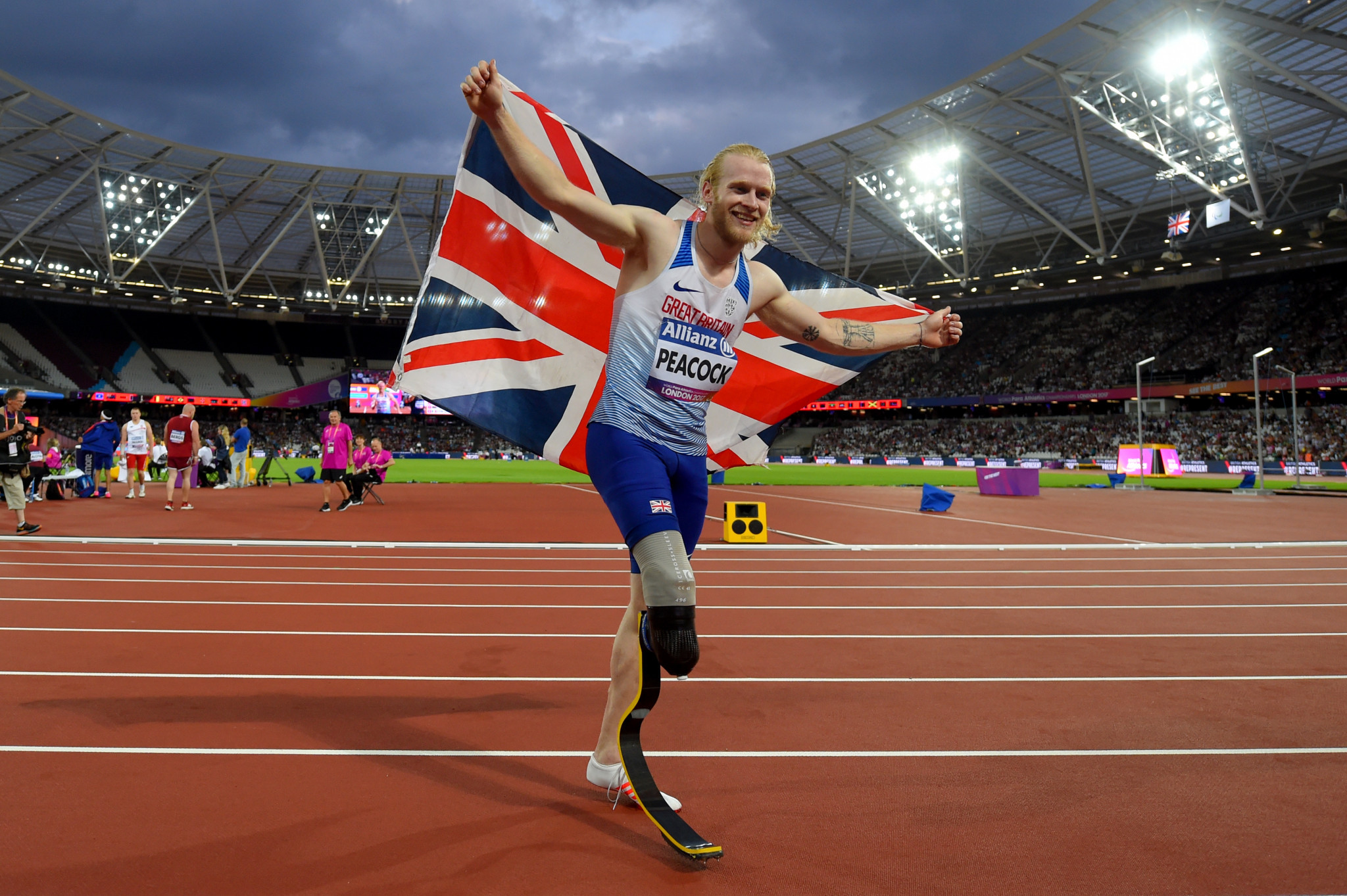 Johnnie Peacock is among the top Paralympic athletes expected to compete at the 2019 Anniversary Games in London, where the Para events will be supported by Toyota ©Getty Images