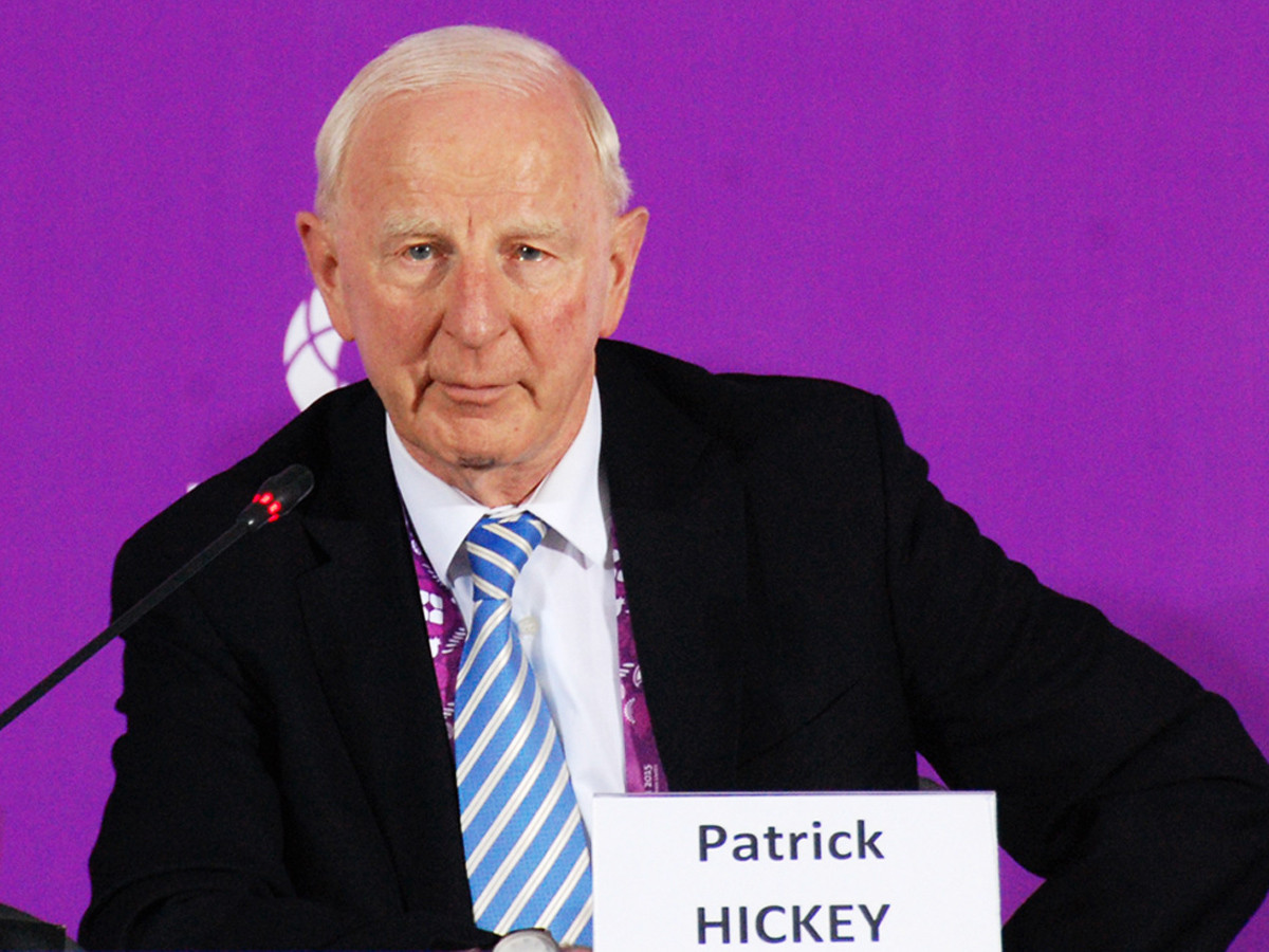 Patrick Hickey has been invited to attend this month's European Games in Minsk ©Baku 2015