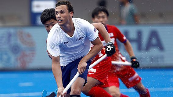 The United States qualified for the semi-finals with a 2-2 draw with Japan ©FIH