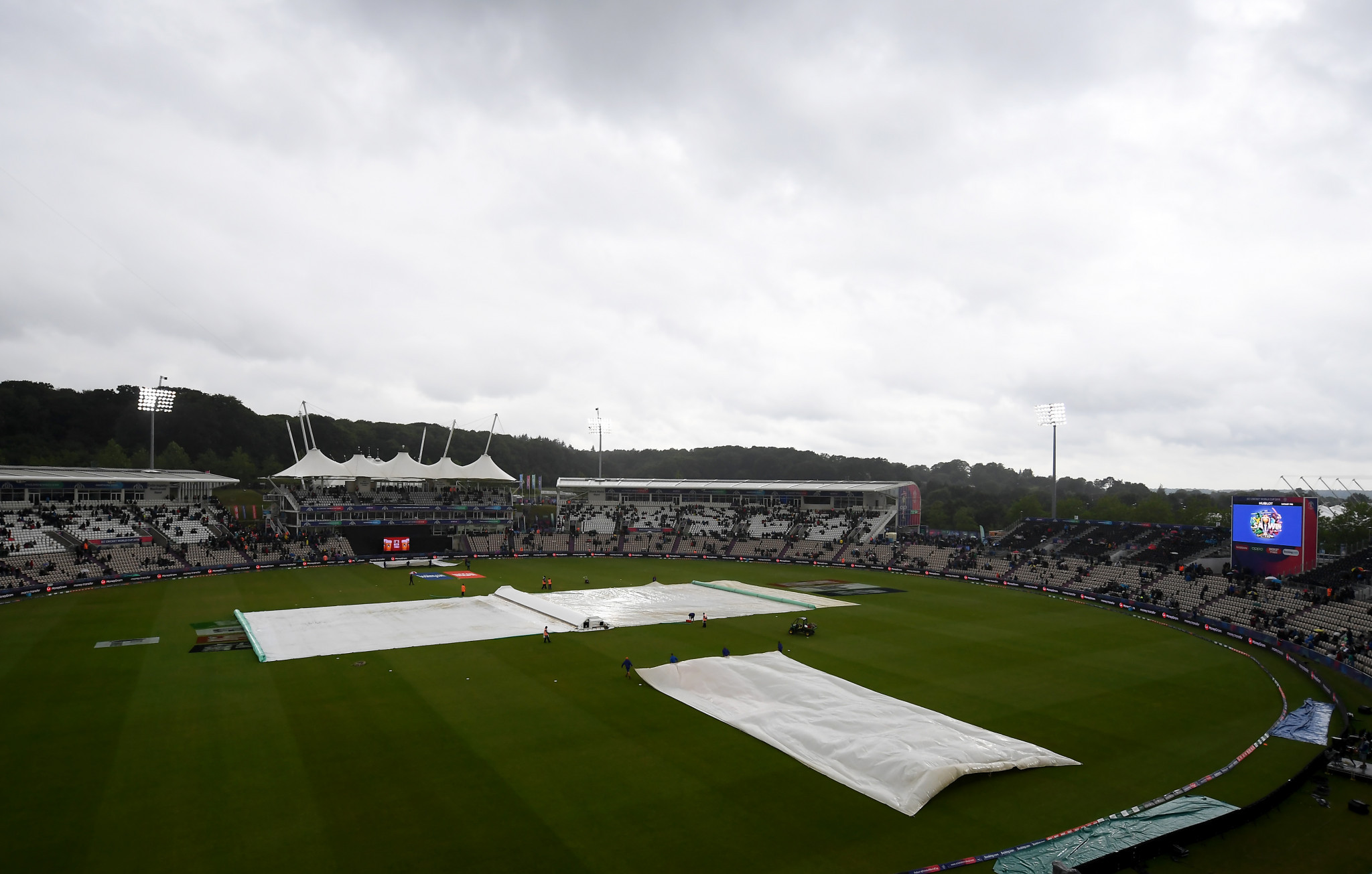 South Africa's fading chances of reaching the semi-finals of the Cricket World Cup were dealt a further blow today after their match with West Indies was abandoned ©Getty Images