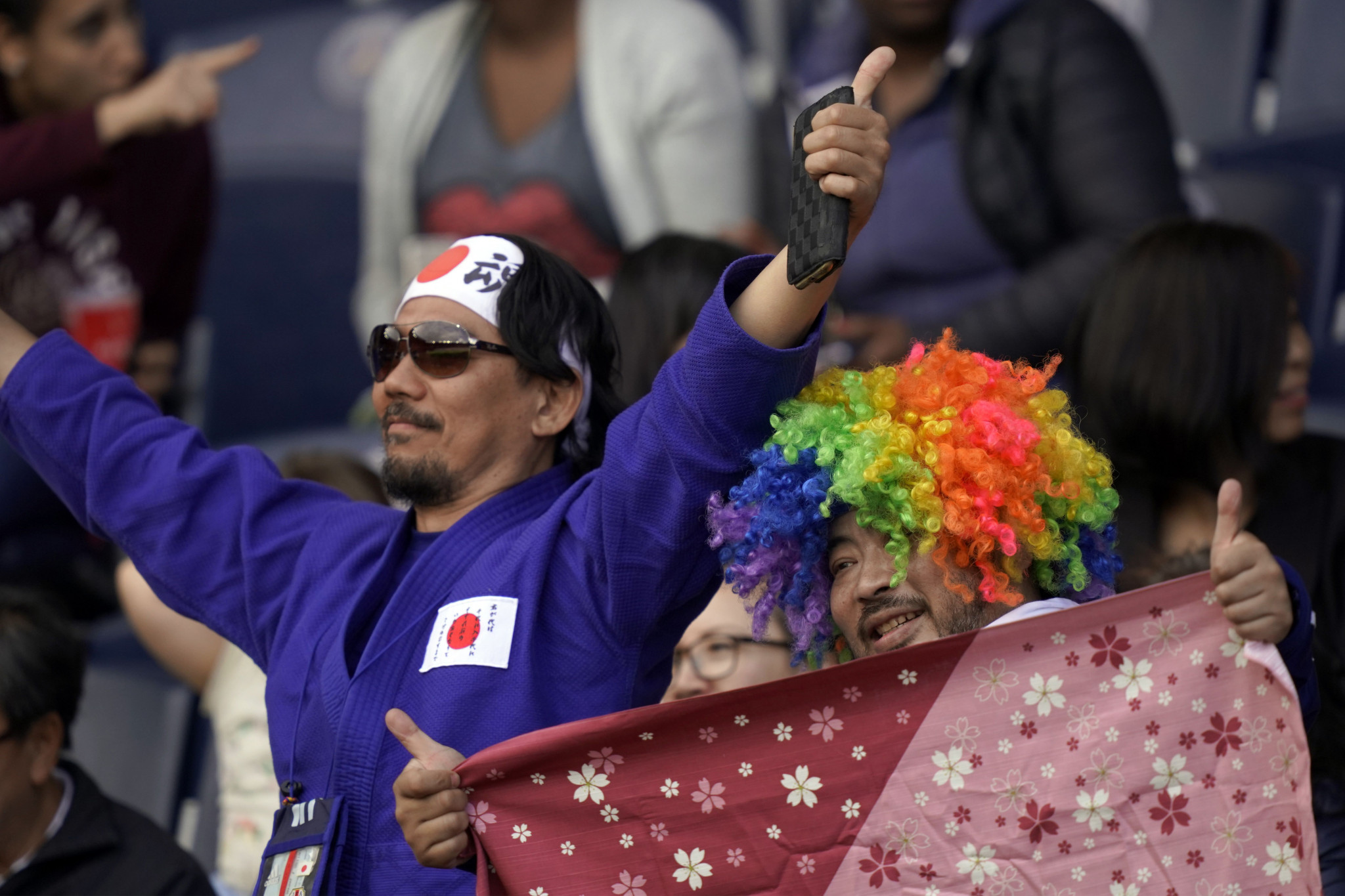 Japan's supporters got into the World Cup spirit to cheer on their team in Paris ©Getty Images