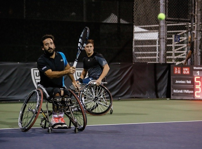 Frenchman Michael Jeremiasz and Gordon Reid of Britain are also through to the semi-finals