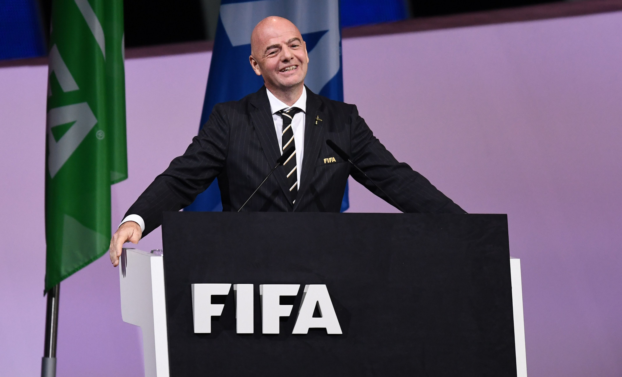 Gianni Infantino was re-elected FIFA President by acclamation last week ©Getty Images