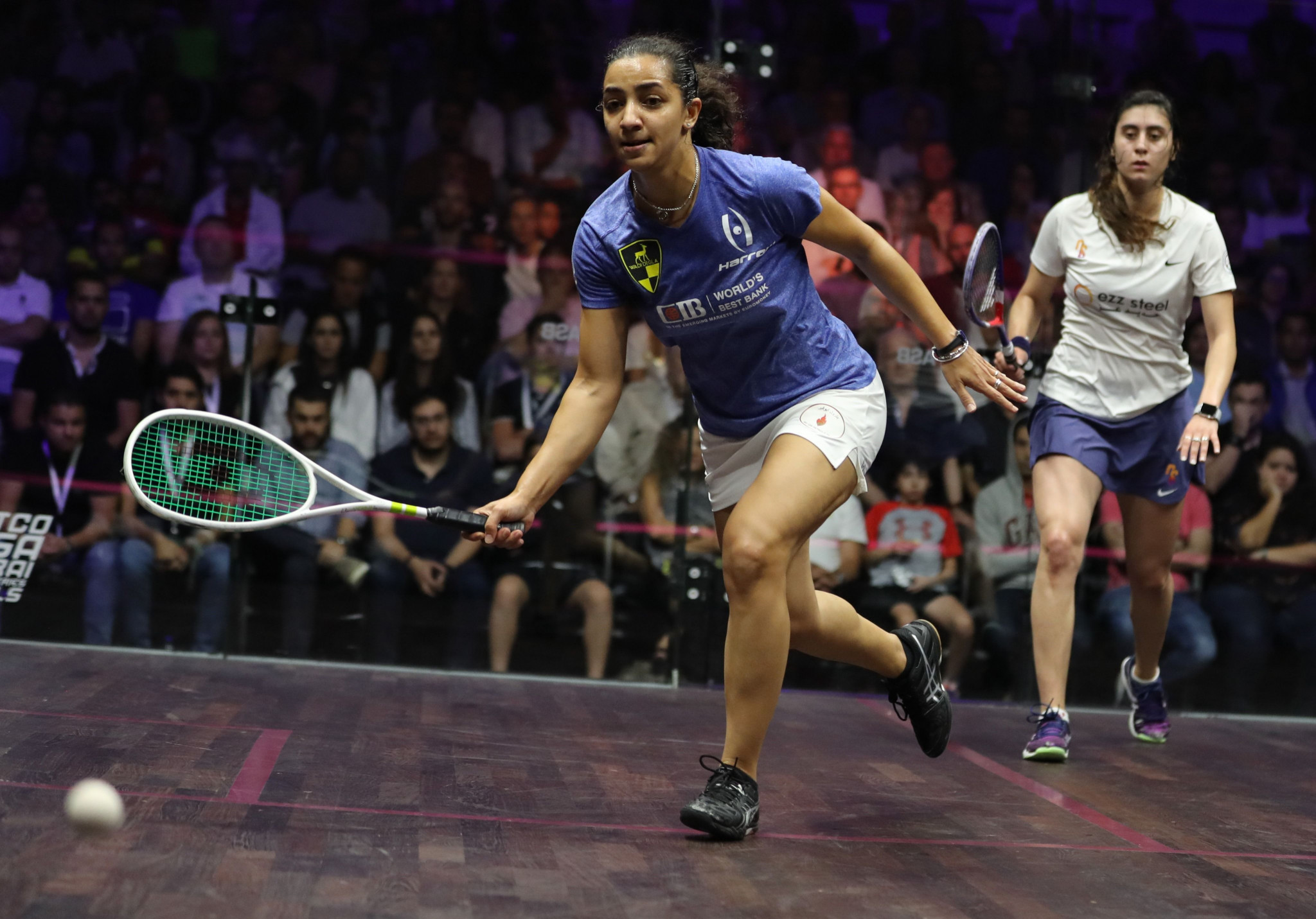 Egypt's women's world number one seed Raneem El Welily claimed her second victory of the PSA World Tour Finals in Cairo ©Getty Images