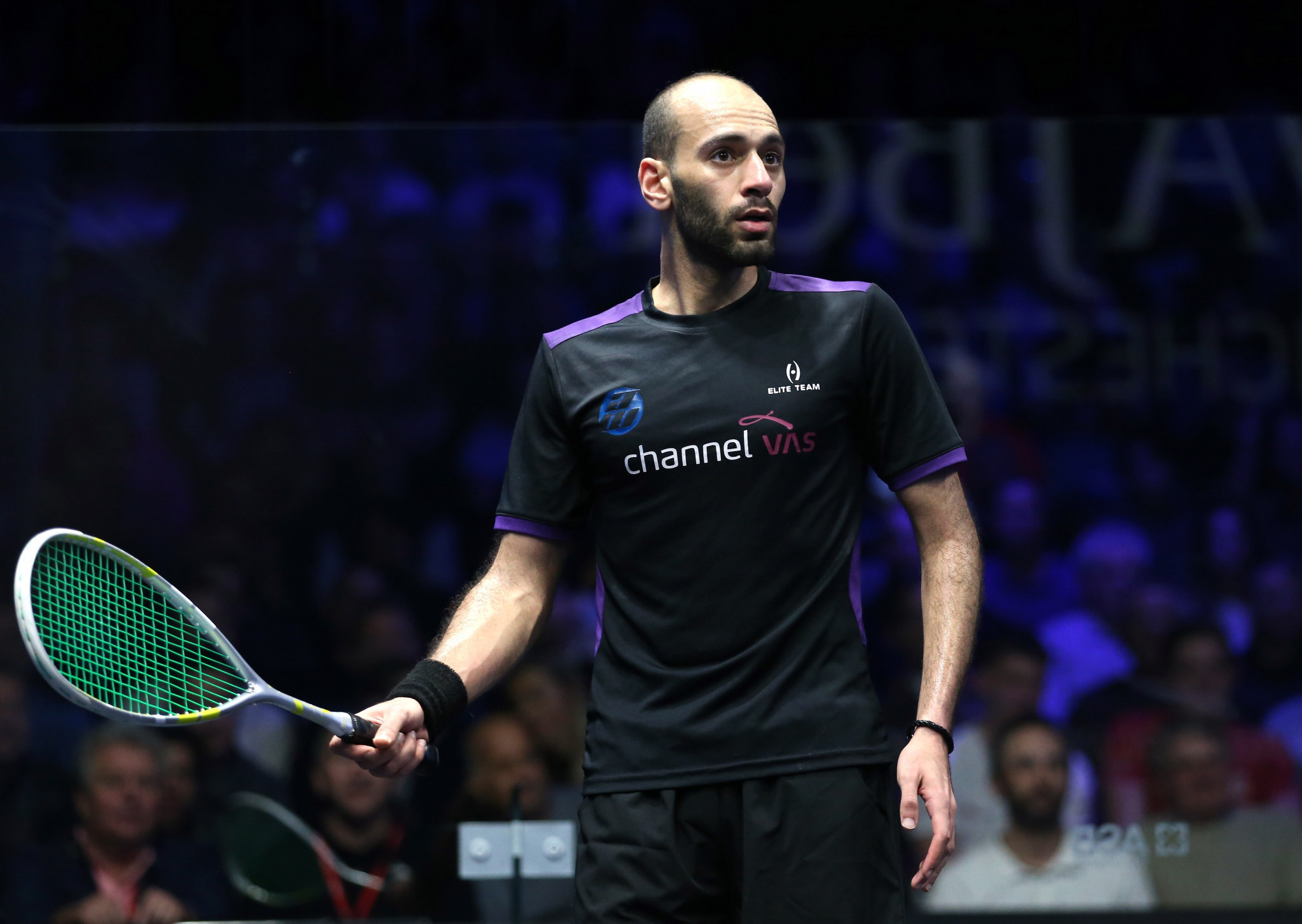 Egypt's Karim Abdel Gawad geared up for his clash with top ranked Ali Farag with a straight sets win over New Zealand's Paul Coll at the PSA World Tour Finals in Cairo ©Getty Images