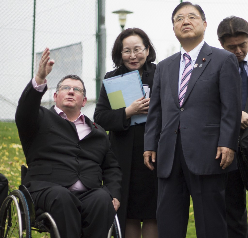Tokyo 2020 Minister visits birthplace of Paralympic Movement