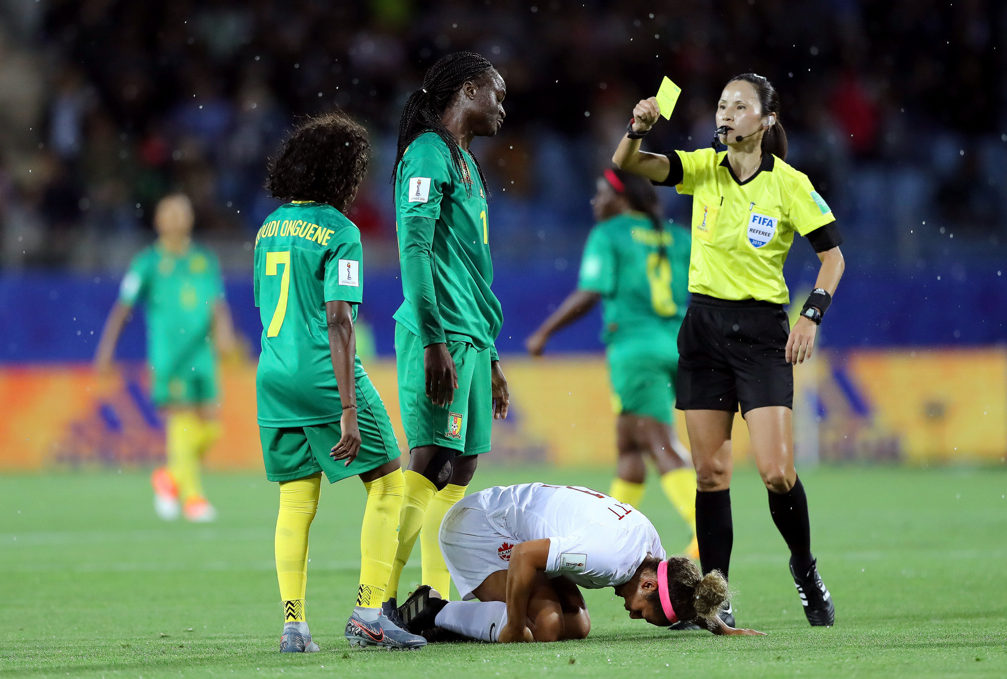 North Korea's Ri Hyang-ok served as referee for Canada's 1-0 Group E victory over Cameroon ©Getty Images