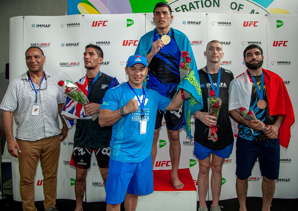 IMMAF chief executive Densign White, left, said the organisation was hoping to break its vicious cycle of rejection ©IMMAF