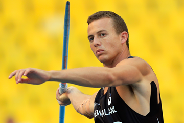 New Zealand's Aaron Booth is set to represent his country at a Summer Universiade for a second time ©International Association of Athletics Federations