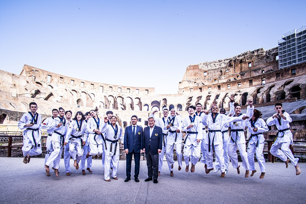 World Taekwondo stages first-ever modern sport medal ceremony at iconic Colosseum in Rome