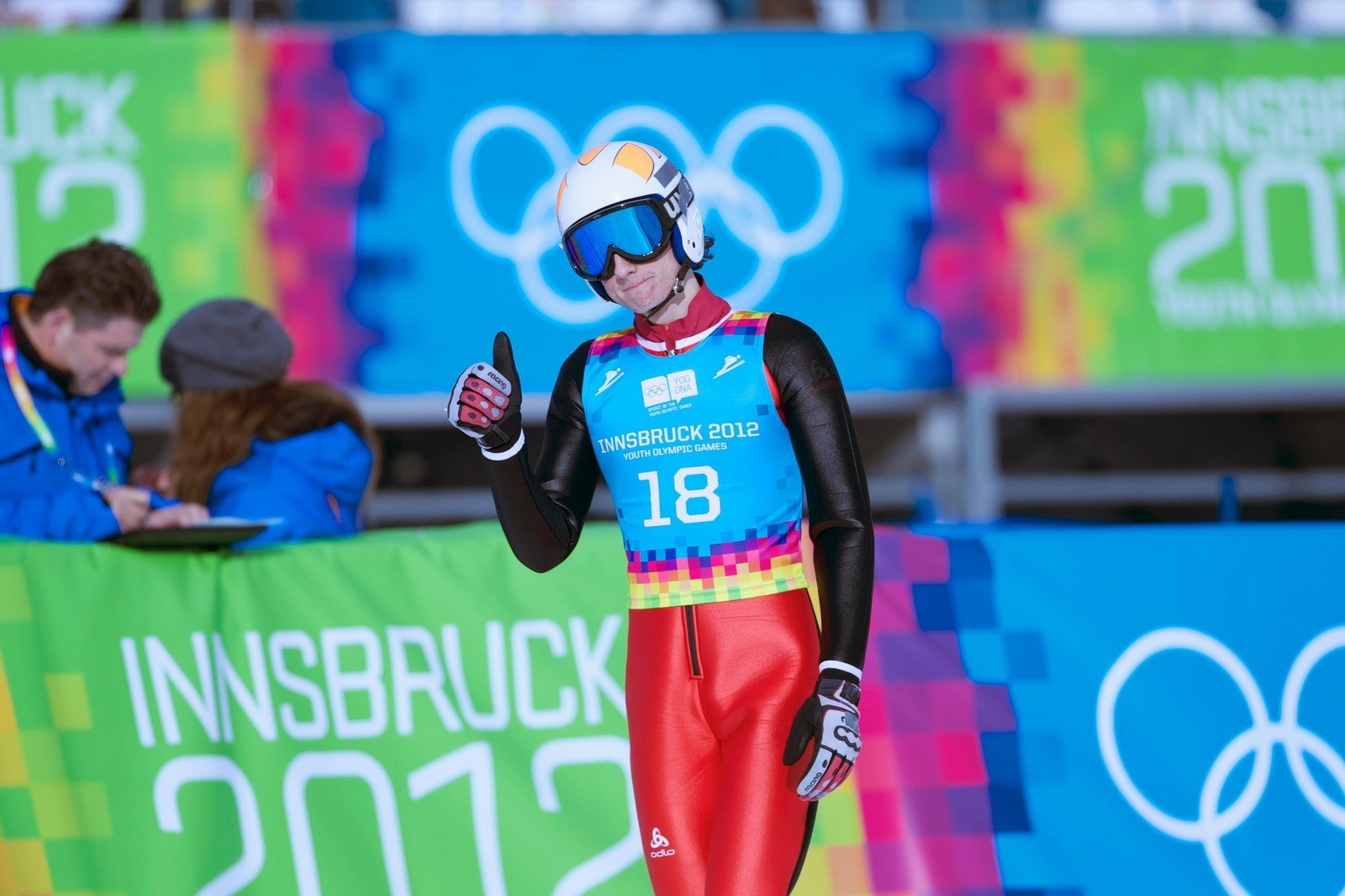 Killian Peier competed at the 2012 Winter Youth Olympics in Innsbruck ©Lausanne 2020