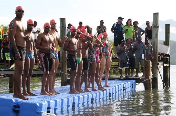 Port Moresby 2015 stage open water swimming test event ahead of Pacific Games