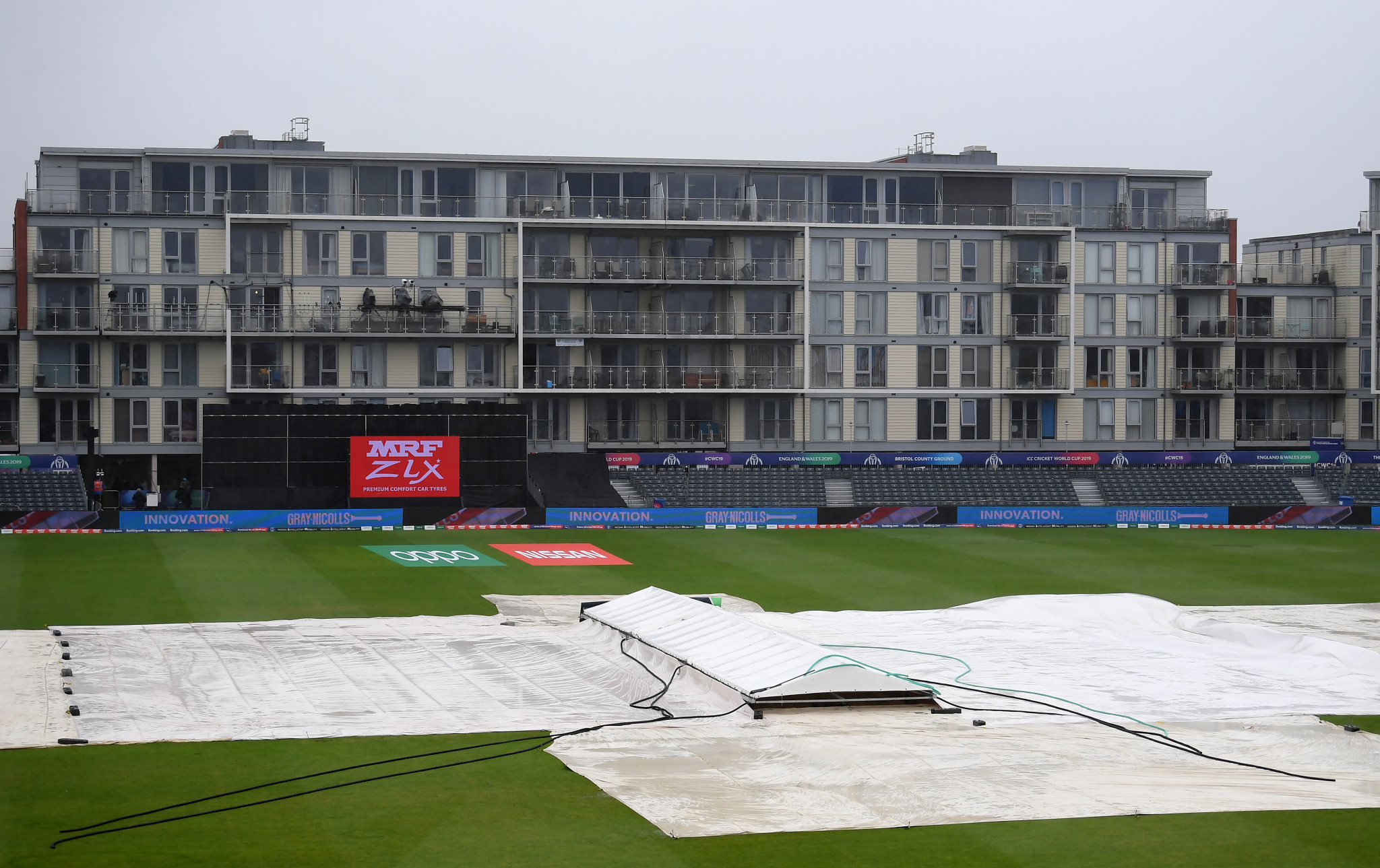 Bangladesh's match with Sri Lanka was abandoned without a ball being bowled ©Getty Images