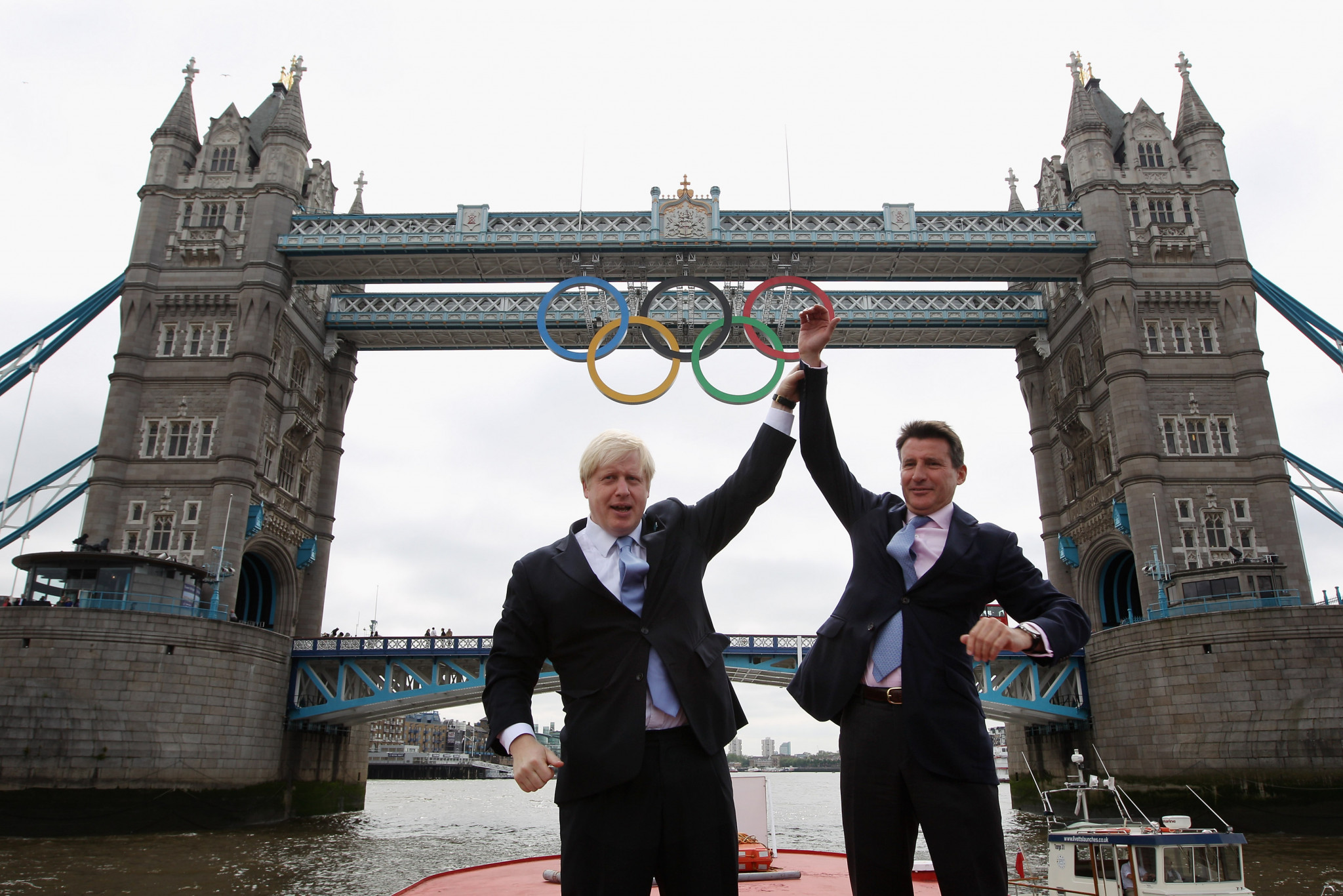 Former London Mayor Boris Johnson, left, is favourite to become Britain's new Prime Minister but Sebastian Coe,right, may have given him a run for his money if he had still been involved in politics ©Getty Images