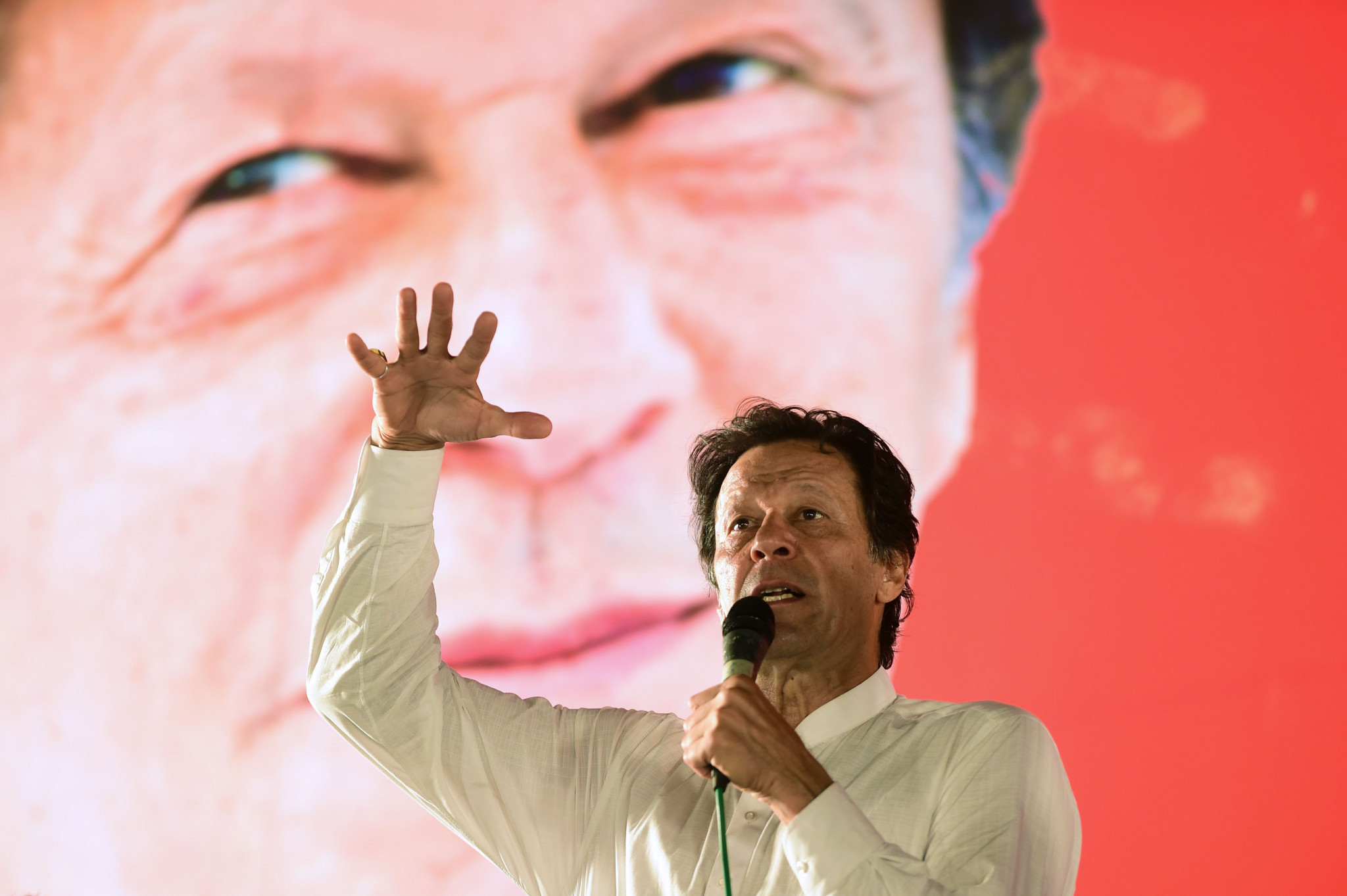 Former cricketer Imran Khan is among ex- sportsmen to have entered politics and is now Pakistan Prime Minister ©Getty Images