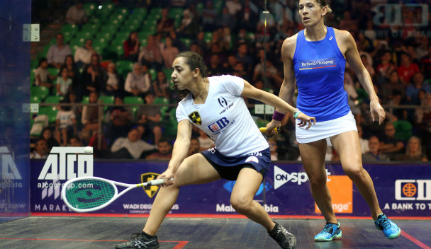 Egypt's world number one Raneem El Welily confirmed her place at the top of Group A in the women's event with an 11-7, 11-7 win over New Zealand's Joelle King in Cairo ©PSA