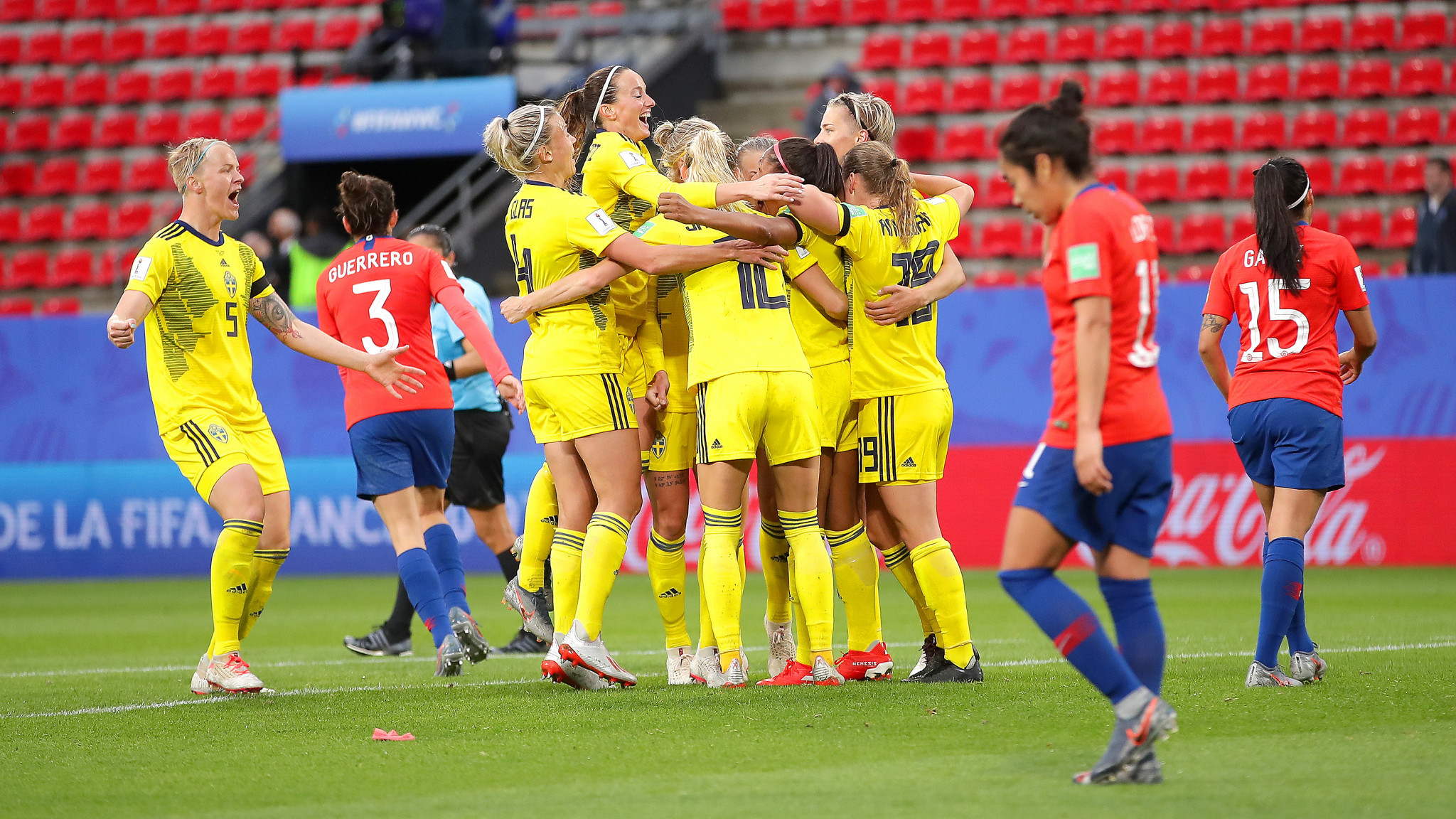 Madelen Janogy then scored to secure a 2-0 victory for Sweden ©Getty Images
