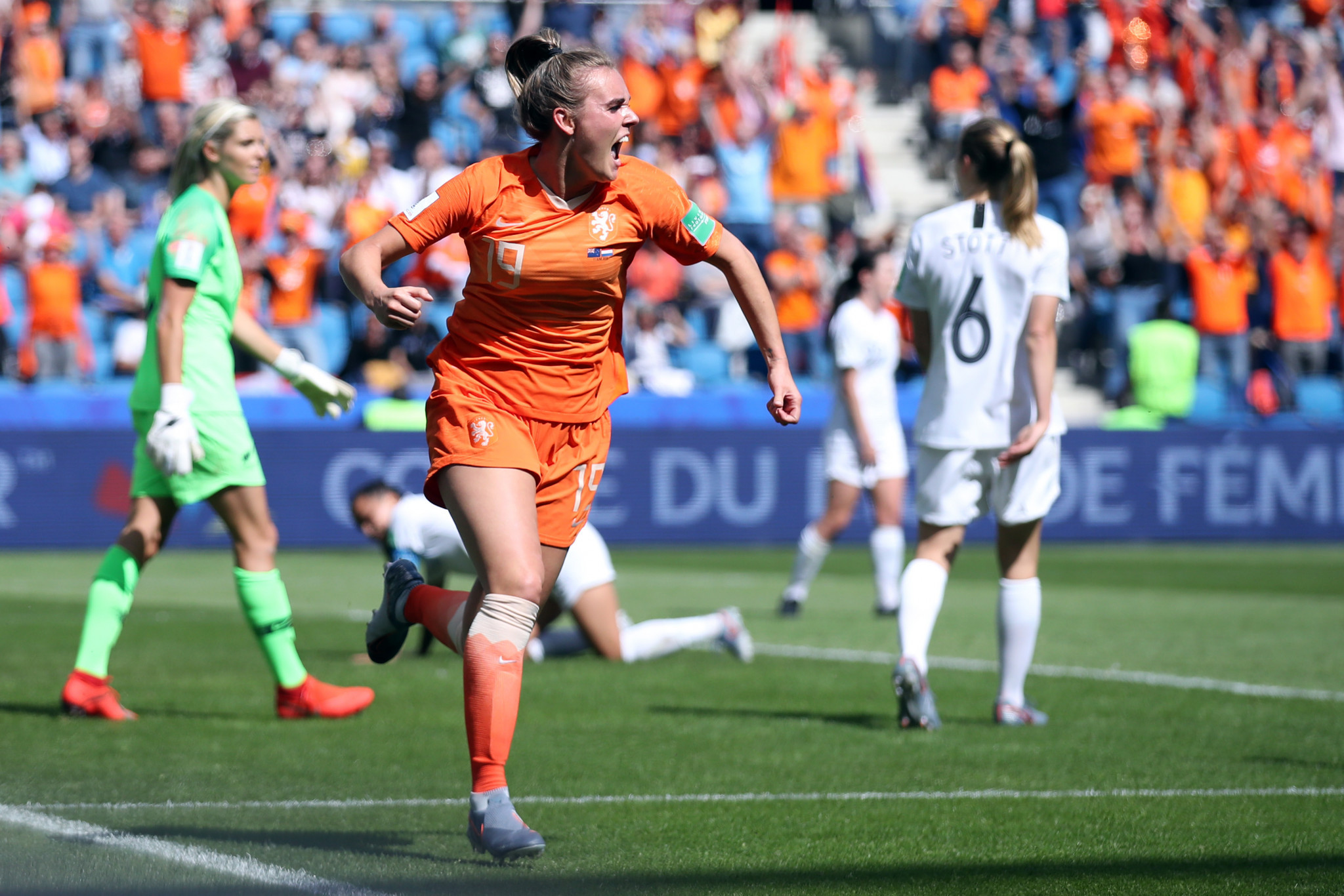 Jill Roord scored a last minute winner for The Netherlands, with the score finishing at 1-0 ©Getty Images