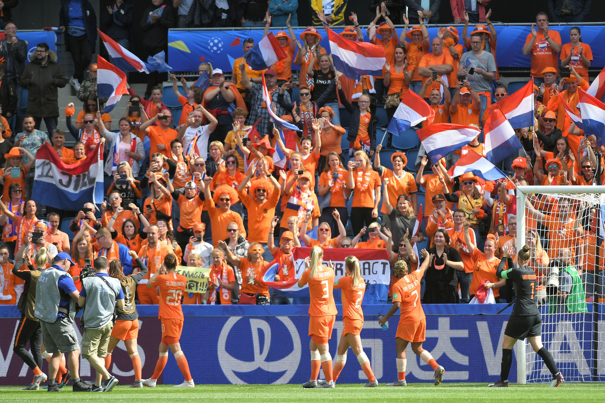 The Netherlands were bolstered by the high level of Dutch support in the crowd ©Getty Images