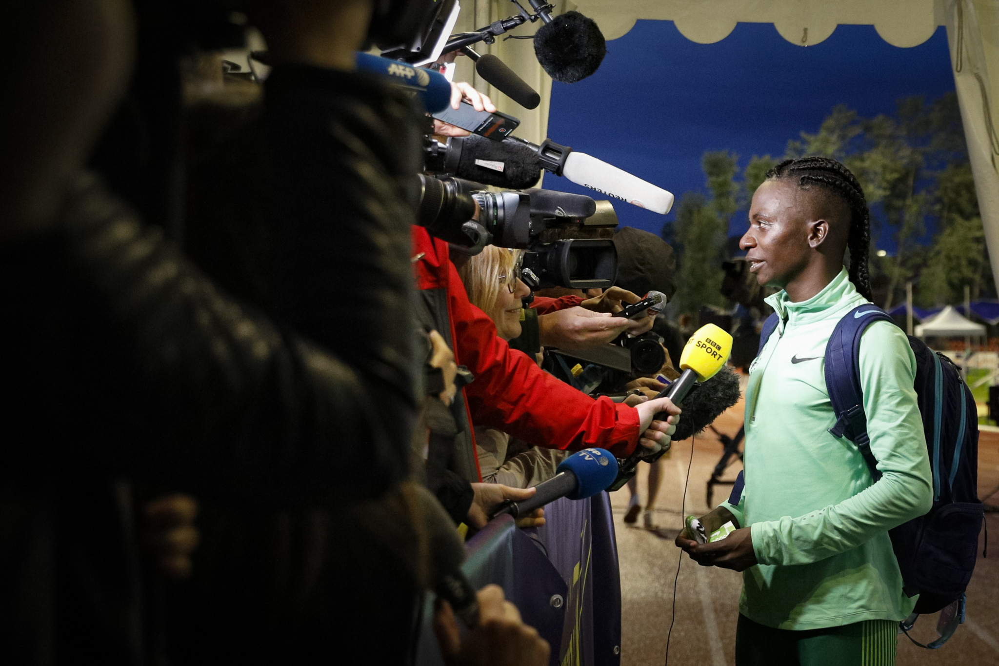 Burundi's Francine Niyonsaba said she is against the IAAF's rules, which she describes as being discriminatory ©Getty Images