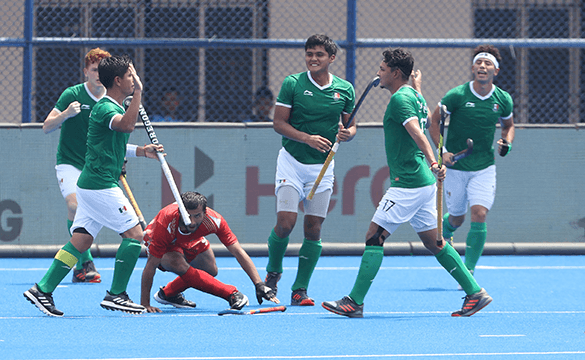 Mexico beat Uzbekistan 4-3 in the seventh-place playoff ©FIH