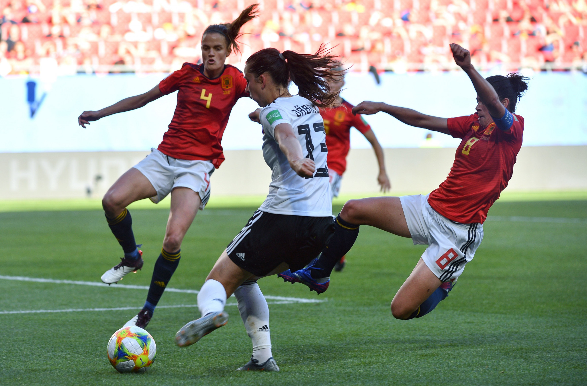 Germany's Sara Daebritz scored the solitary goal in her side's 1-0 win against Spain at the FIFA Women's World Cup ©Getty Images