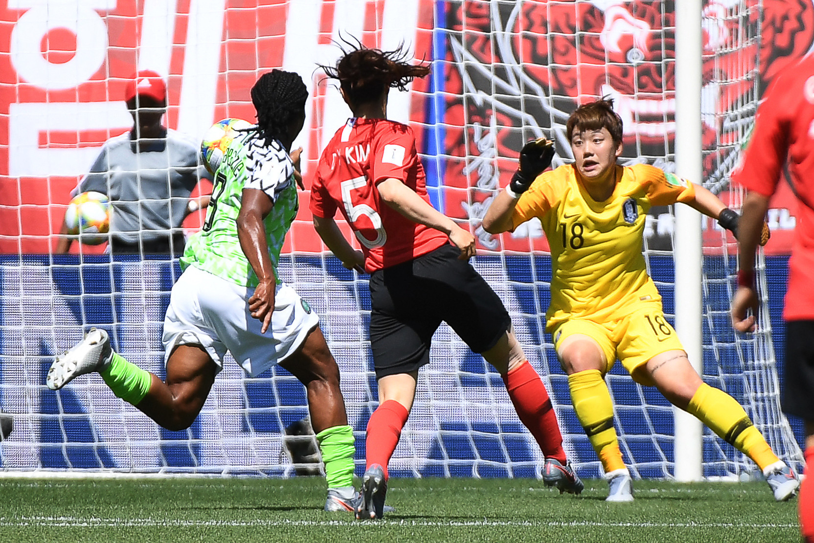 In a clash between Nigeria and South Korea, Kim Do-yeon scored an own goal to put Nigeria ahead ©Getty Images