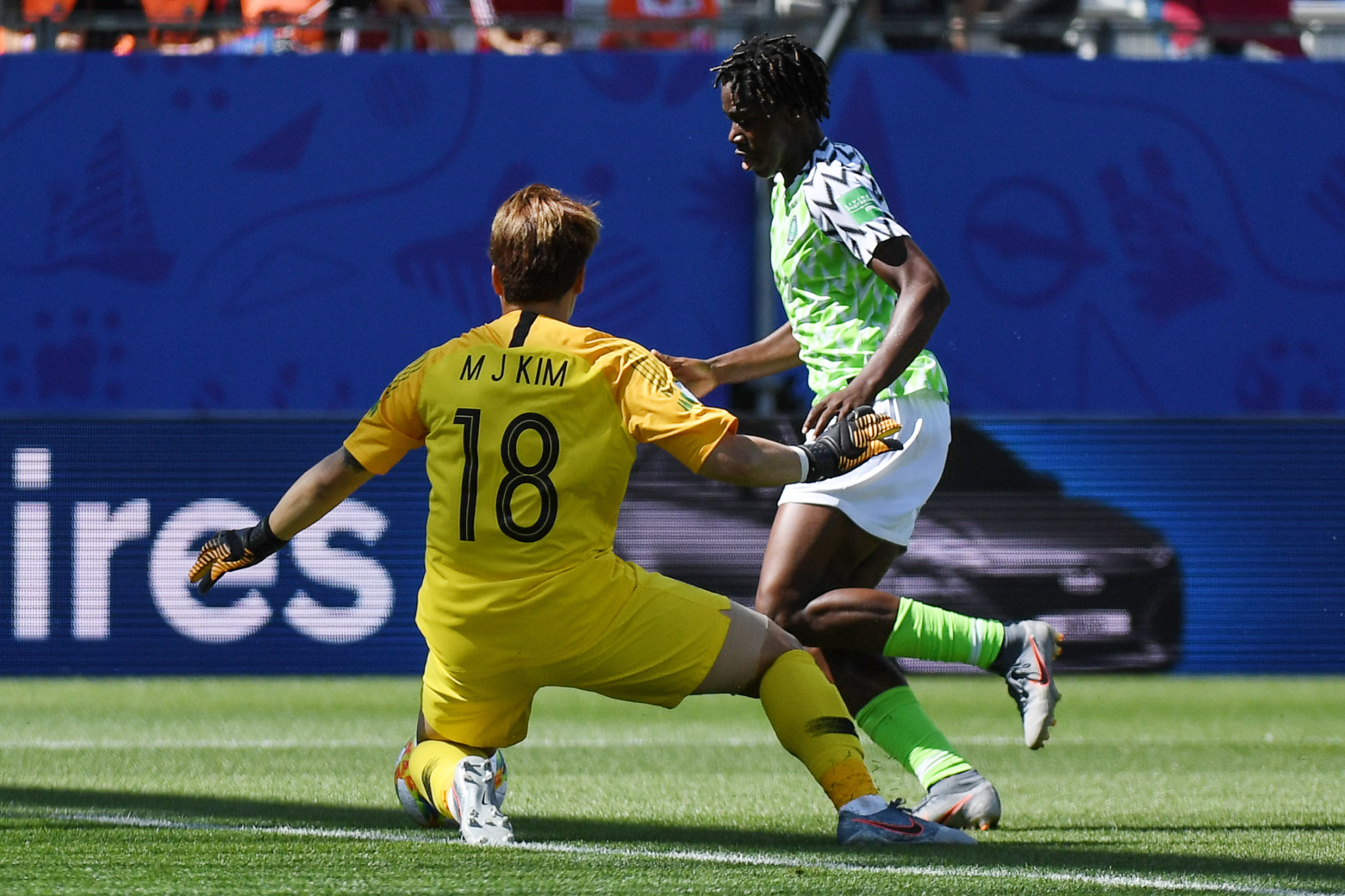 Asisat Oshoala then scored, with Nigeria winning 2-0 ©Getty Images
