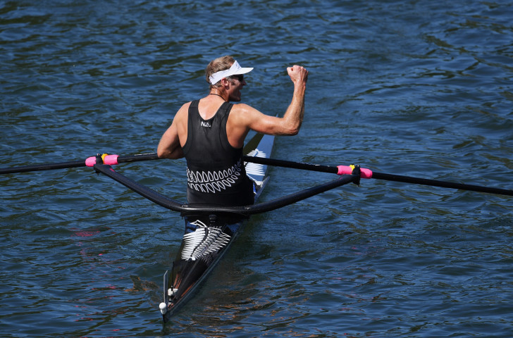 Double Olympic single sculls champion Mahé Drysdale, now 40, will be in the new New Zealand eight along with Hamish Bond as it makes its international debut in Poland this month ©Getty Images