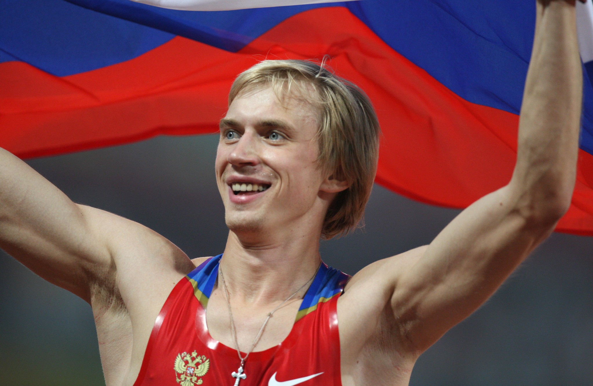 Andrei Silnov won Olympic high jump gold medal at Beijing 2008 ©Getty Images