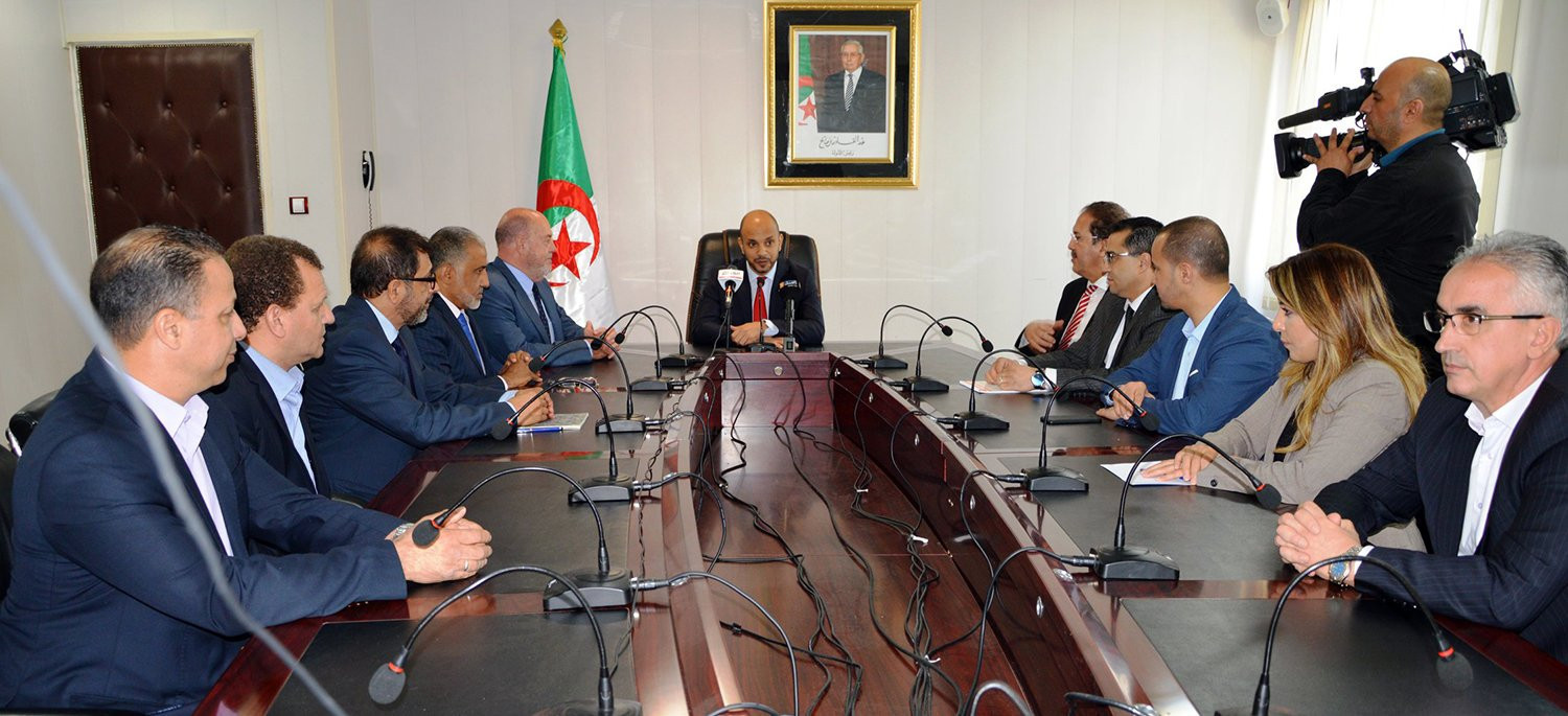 WKF President Antonio Espinós visited the headquarters of Algeria's Ministries of Foreign Affairs and Sports and Youth to discuss karate ©WKF