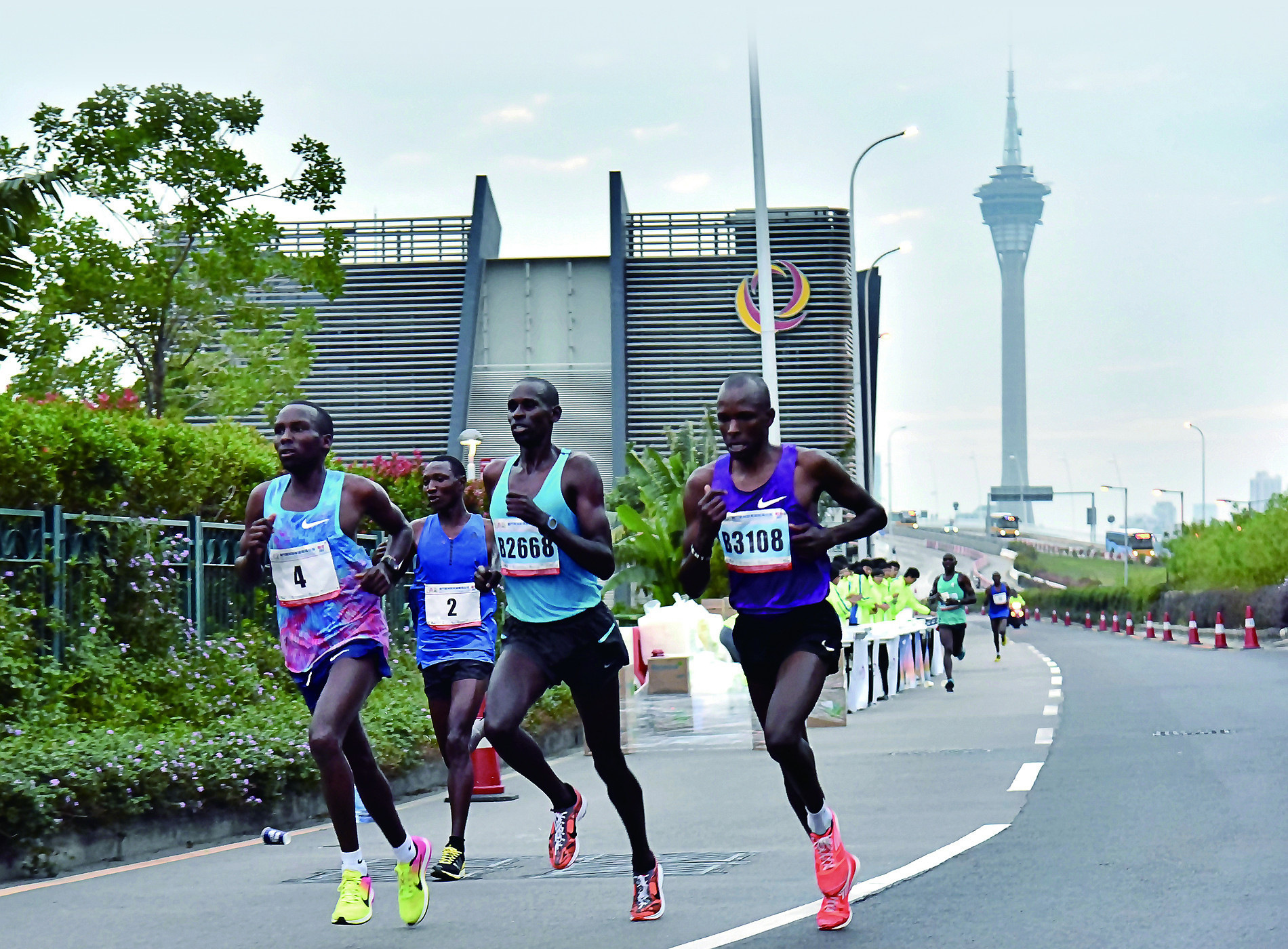 Felix Kirwa, number four, winner of the Macau Marathon in 2017, has been suspended for nine months after testing positive for a banned drug usually used as a rat poison ©Macau Government