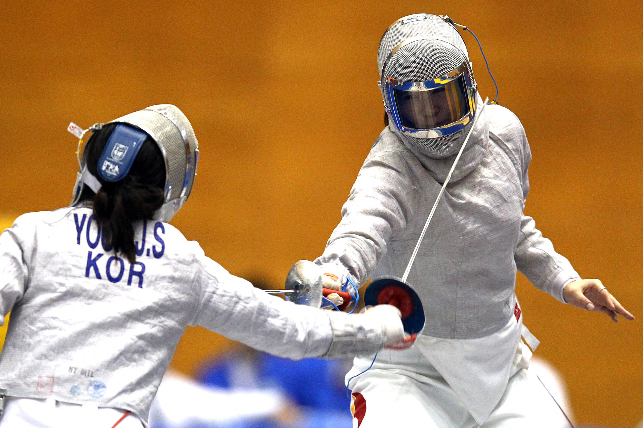 Jisu Yoon of South Korea beat the London 2012 Olympic champion on her way to gold ©Getty Images