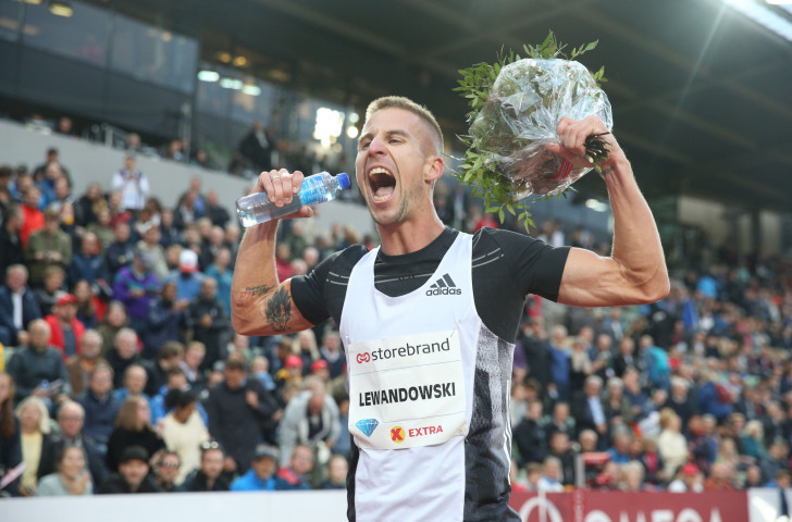 Poland's Marcin Lewandowski celebrates his 32nd biirthday – and winning Oslo's Dream Mile ©Getty Images