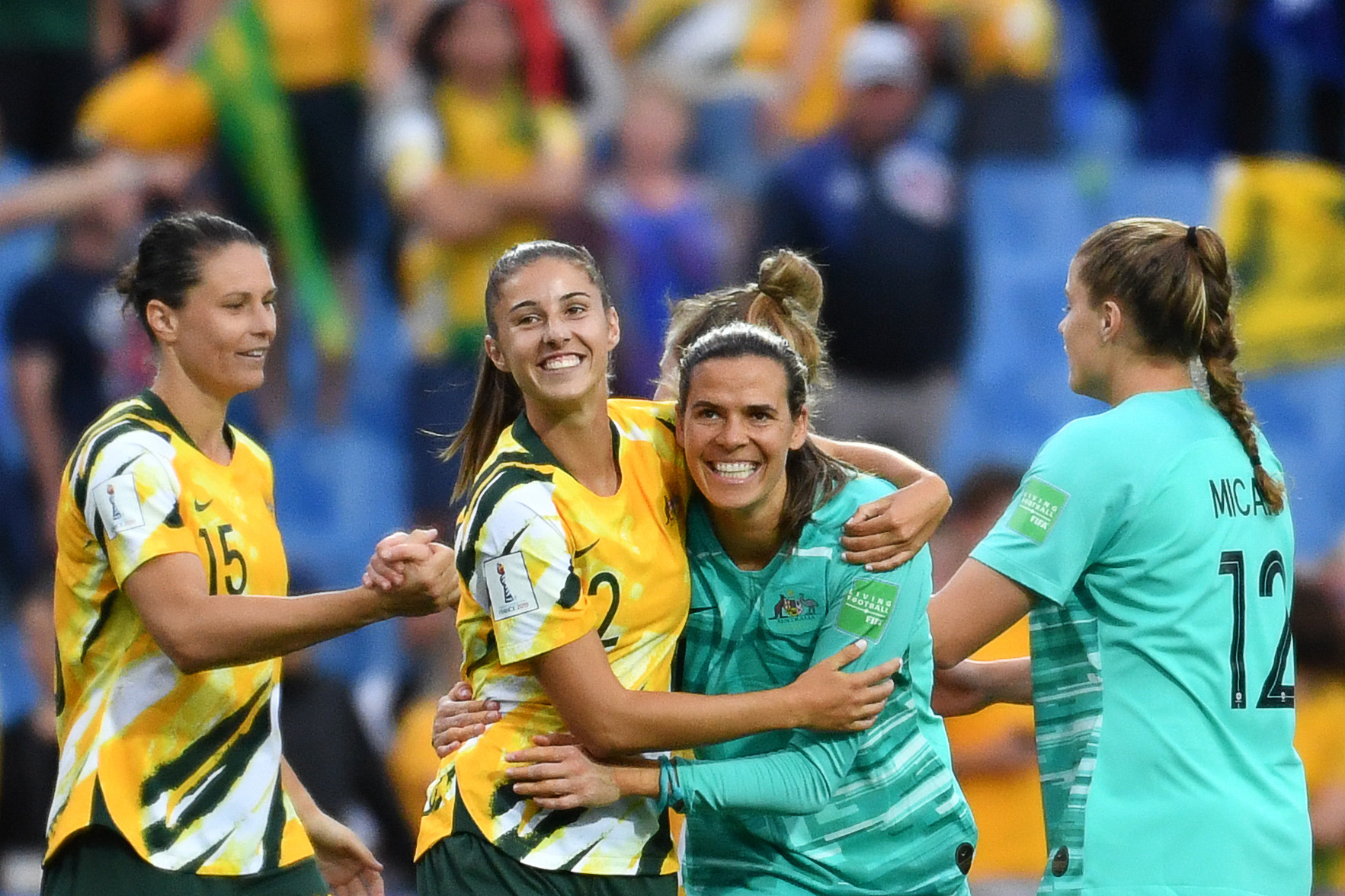 Australia completed a remarkable comeback victory against Brazil ©Getty Images