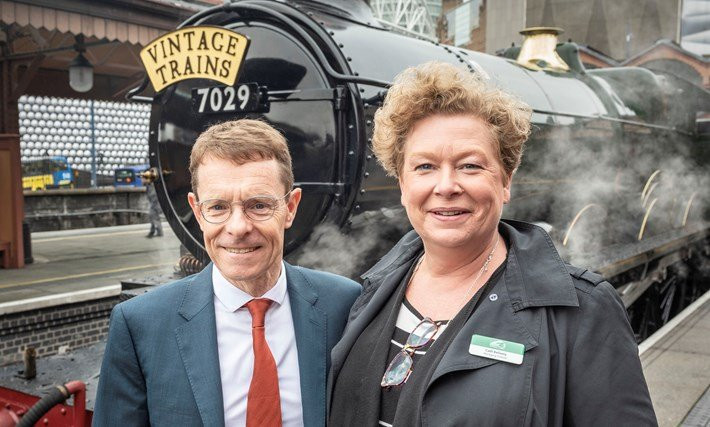 West Midlands Mayor Andy Street hopes the new steam train service between Birmingham and William Shakespeare's birthplace Stratford-upon-Avon will be a tourist attraction during the 2022 Commonwealth Games ©WMCA