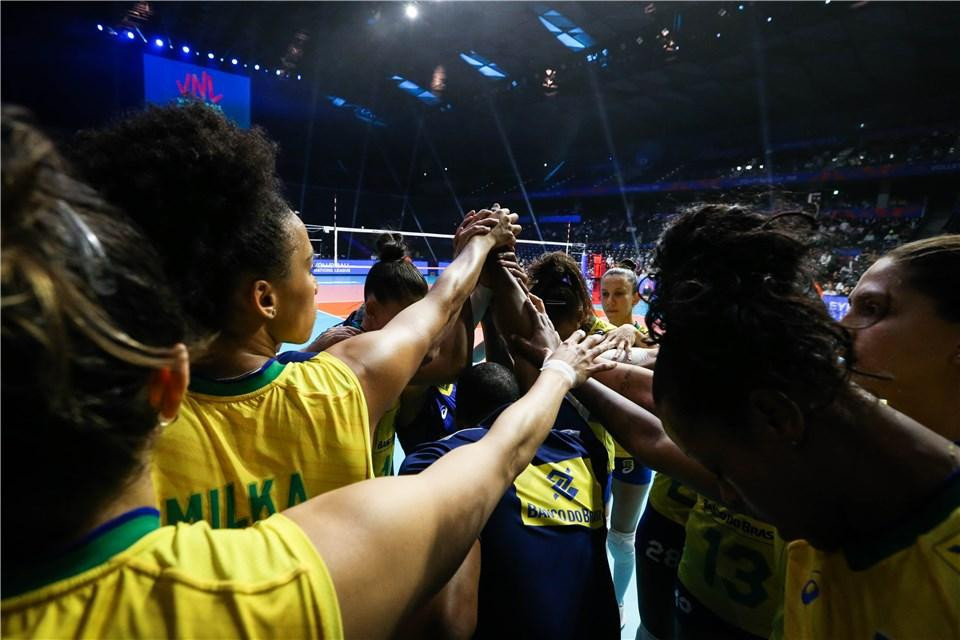 Brazil end Tokyo trip unbeaten in FIVB Women's Nations League