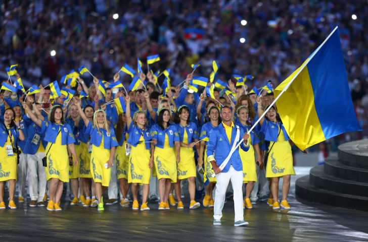 Ukraine's athletes and officials take part in the Opening Ceremony at the inaugural European Games in Baku four years ago – more officials may be involved in the parade when the second European Games open in Minsk ©Getty Images