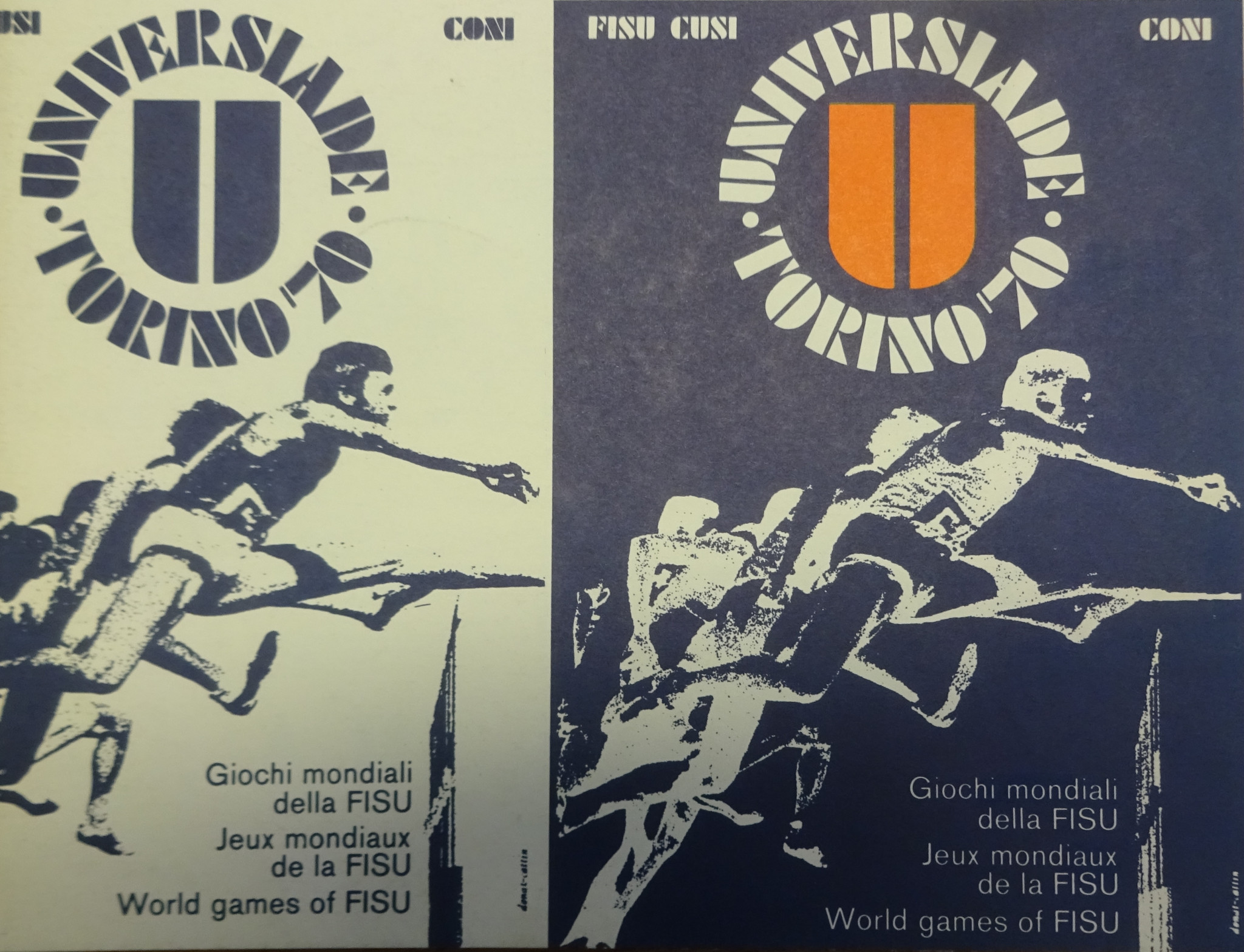 The poster designed for 1970 ©FISU/CUSI/CONI