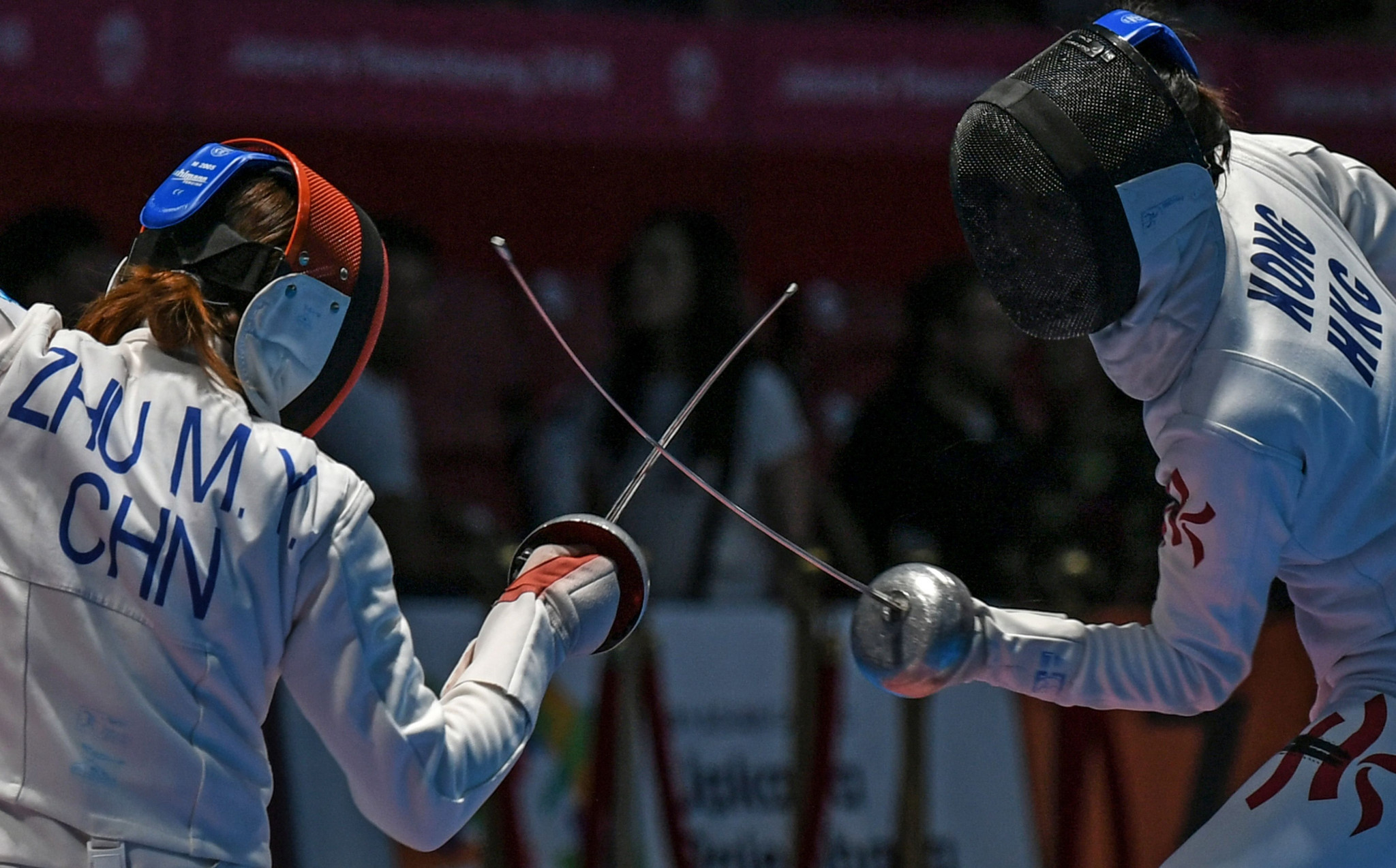 China's Zhu Mingye came out on top in the women's épée event ©Getty Images