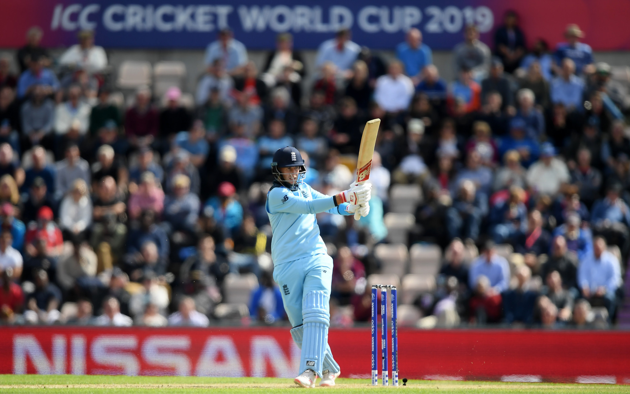 Joe Root hit his second century of the World Cup as England thrashed West Indies ©Getty Images