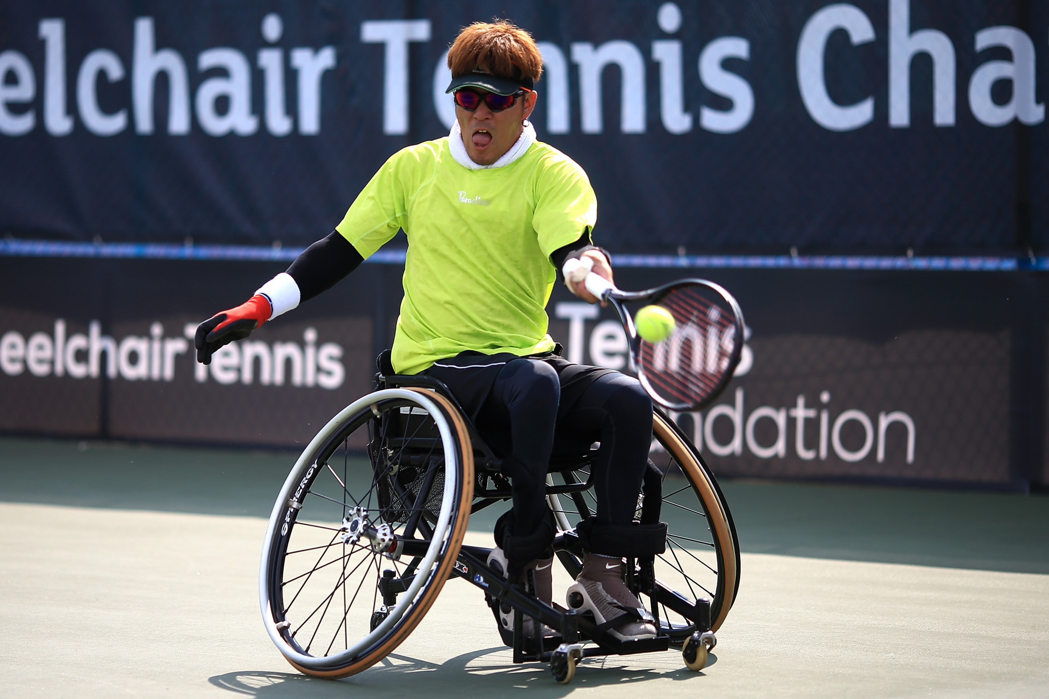 Second seed Koji Sugeno of Japan is through to the semi-finals of the quads singles event ©Getty Images