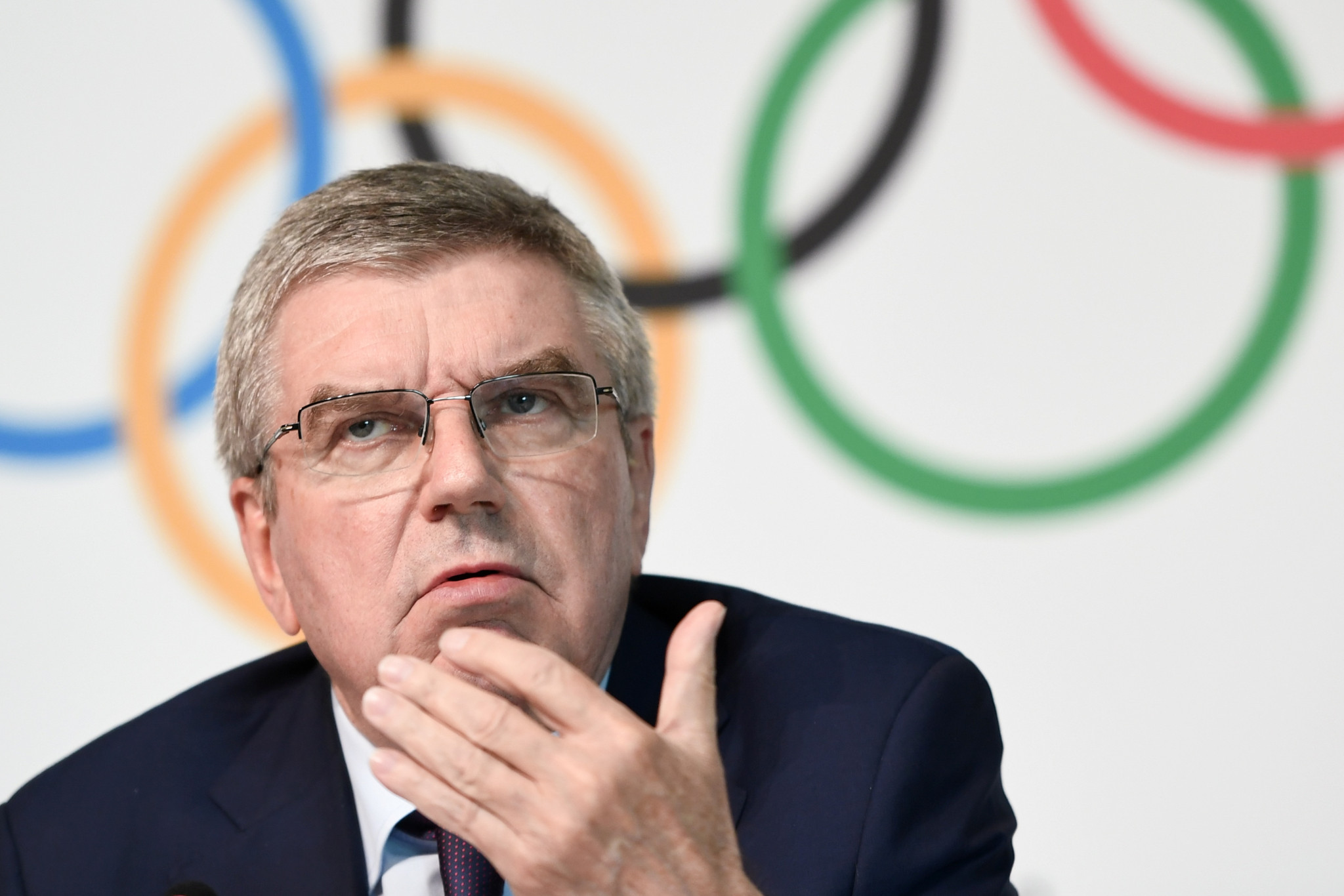 IOC President Thomas Bach suggested the organisation may look towards recommending a single host for the Games ©Getty Images