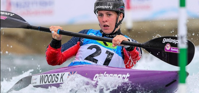Britain's Kimberley Woods posted the fastest qualifying time in the women's K1 event ©Bence Vekassy/ICF