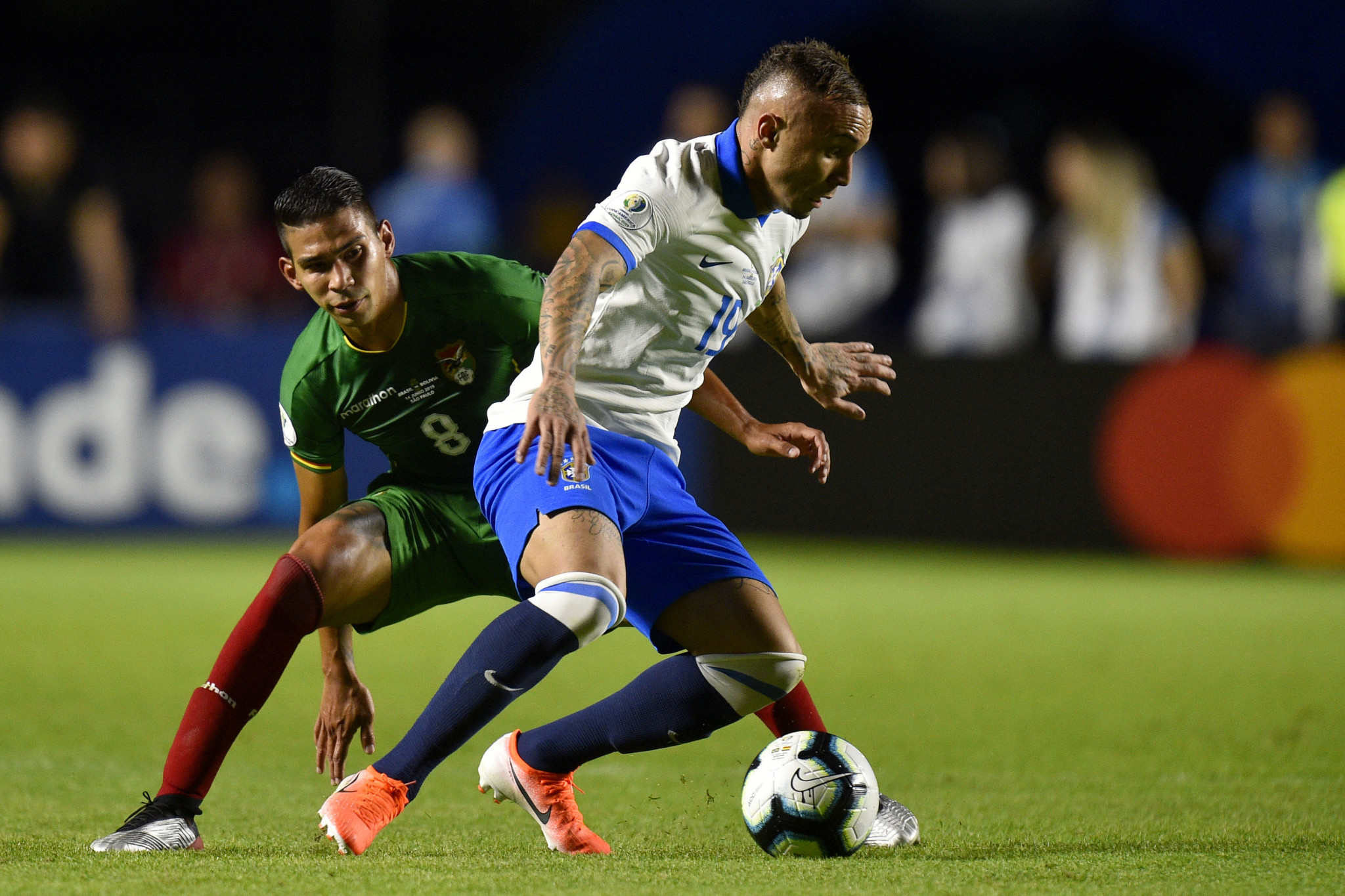 Everton Soares scored the third goal in Brazil's 3-0 victory against Bolivia in the Copa America ©Getty Images