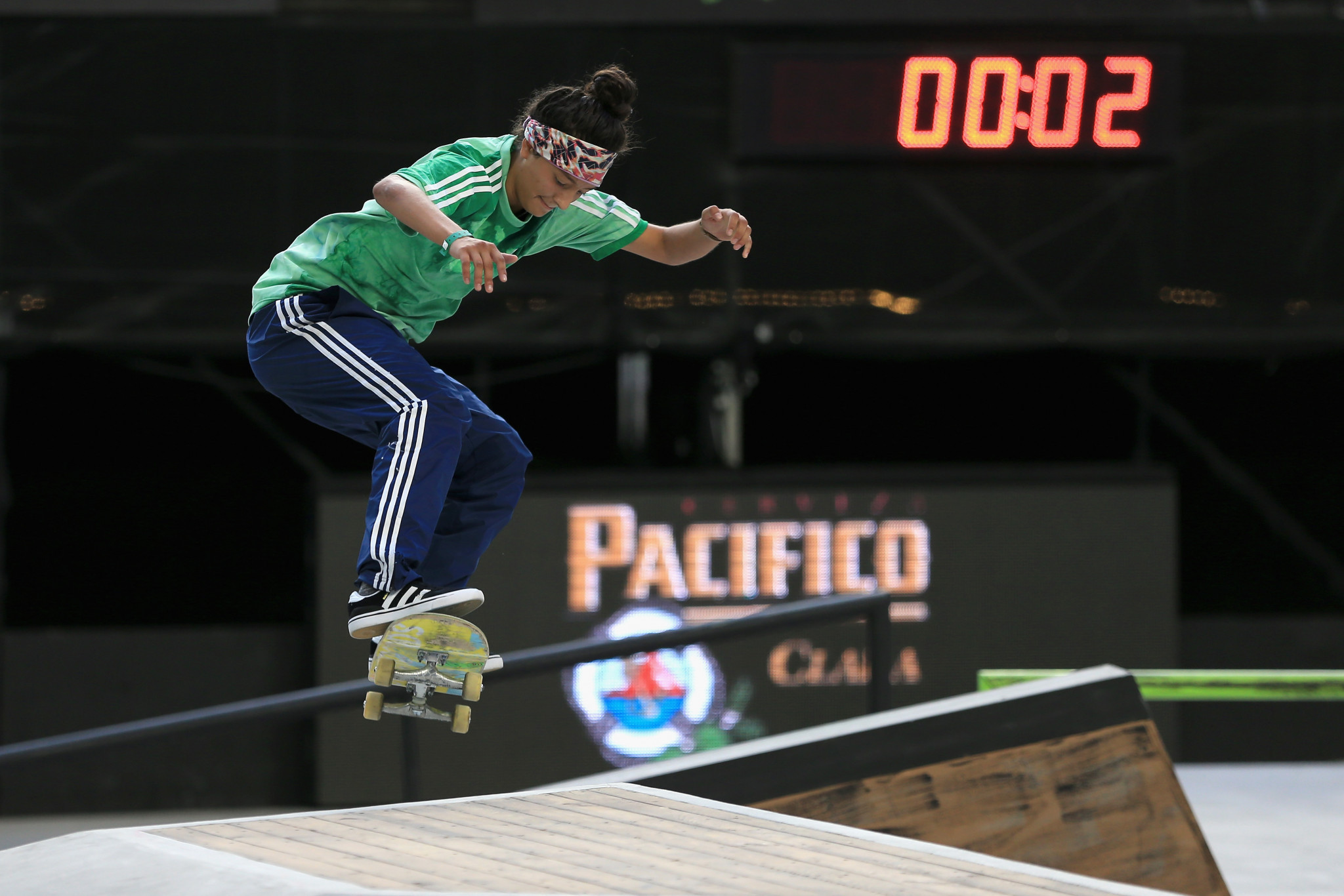 Mariah Duran topped the standings in the women's street semi-finals ©Getty Images