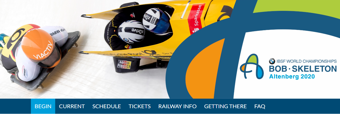 Website launched for Bobsleigh and Skeleton World Championships in Altenberg