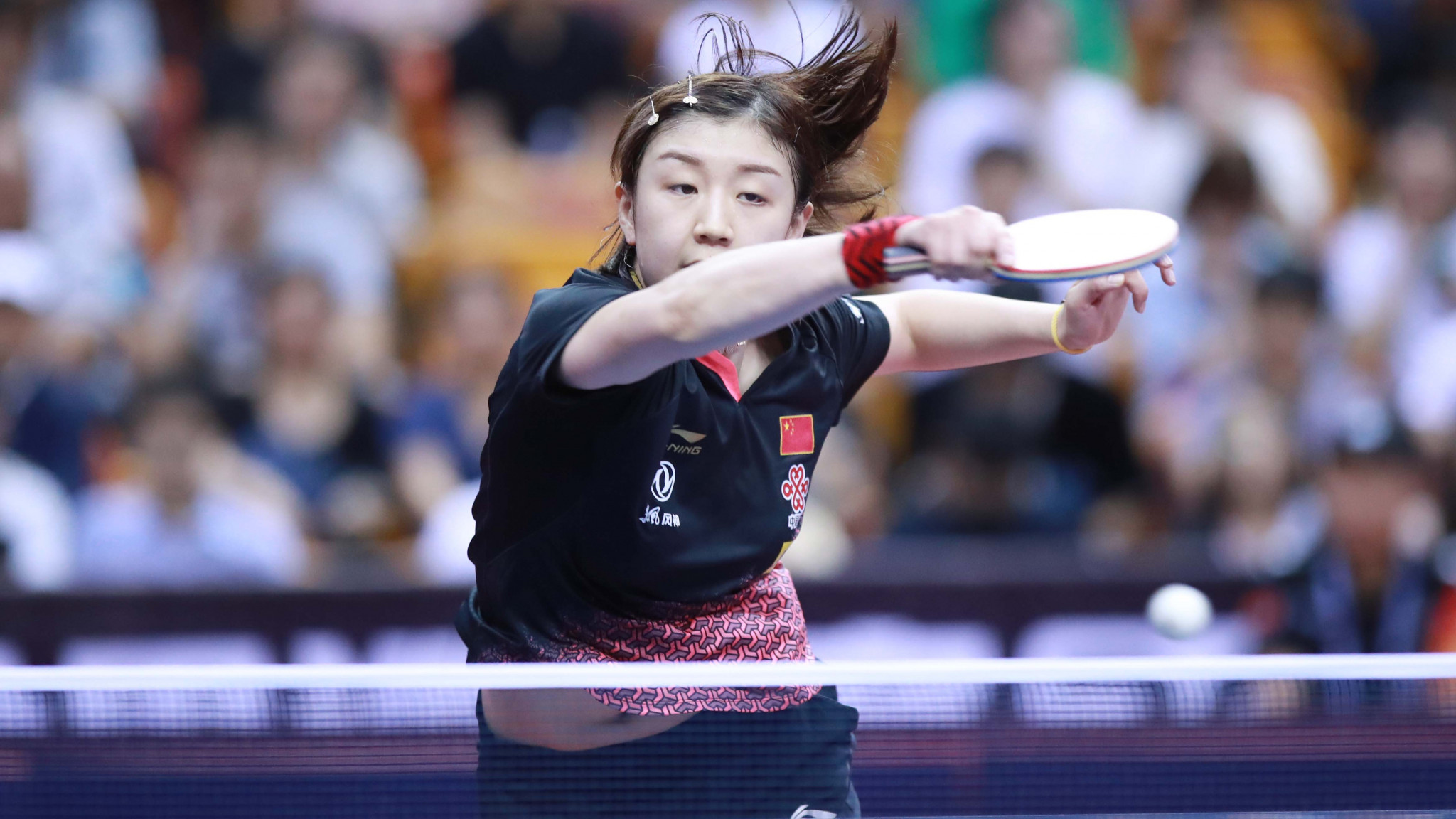 Chen Meng battled past Wang Manyu in seven games to reach the women's singles semi-finals ©ITTF